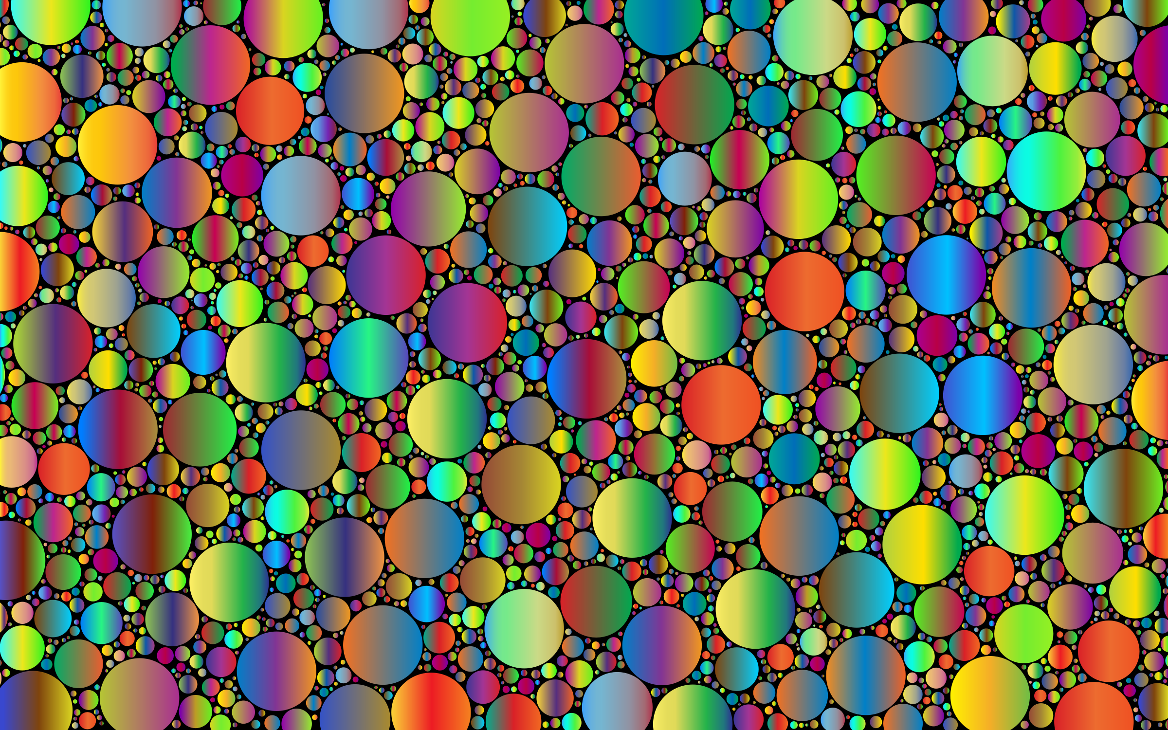 Prismatic Packed Circles 6 by GDJ