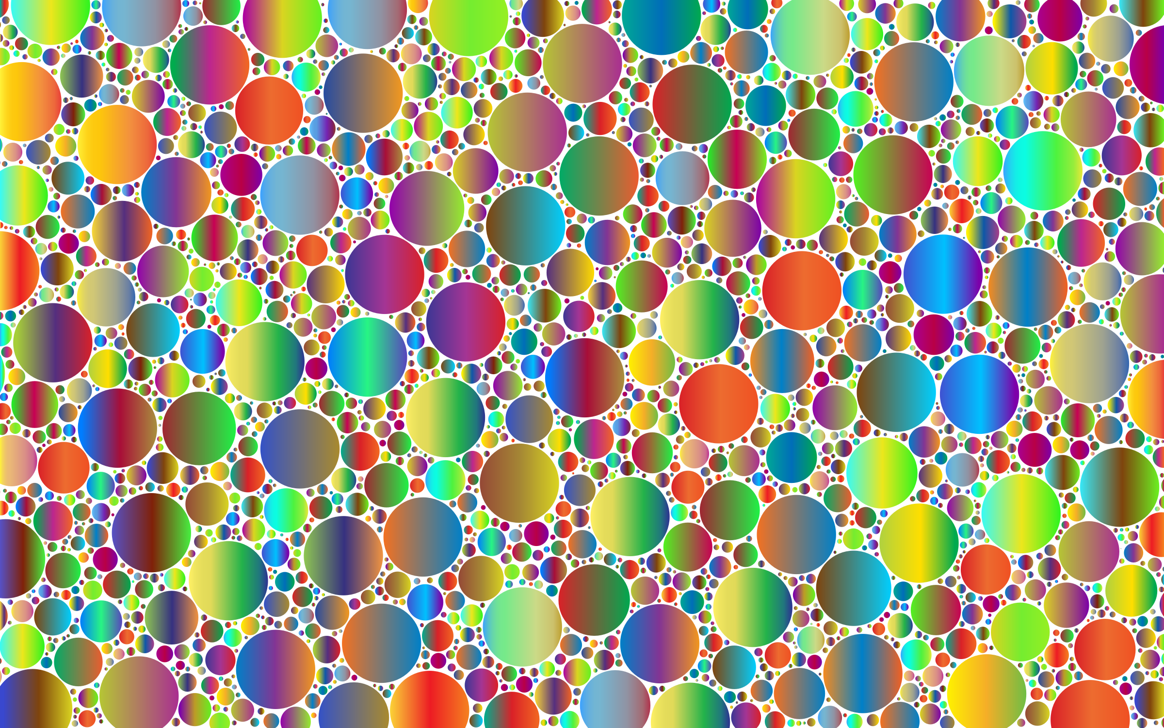 Prismatic Packed Circles 6 No Background by GDJ