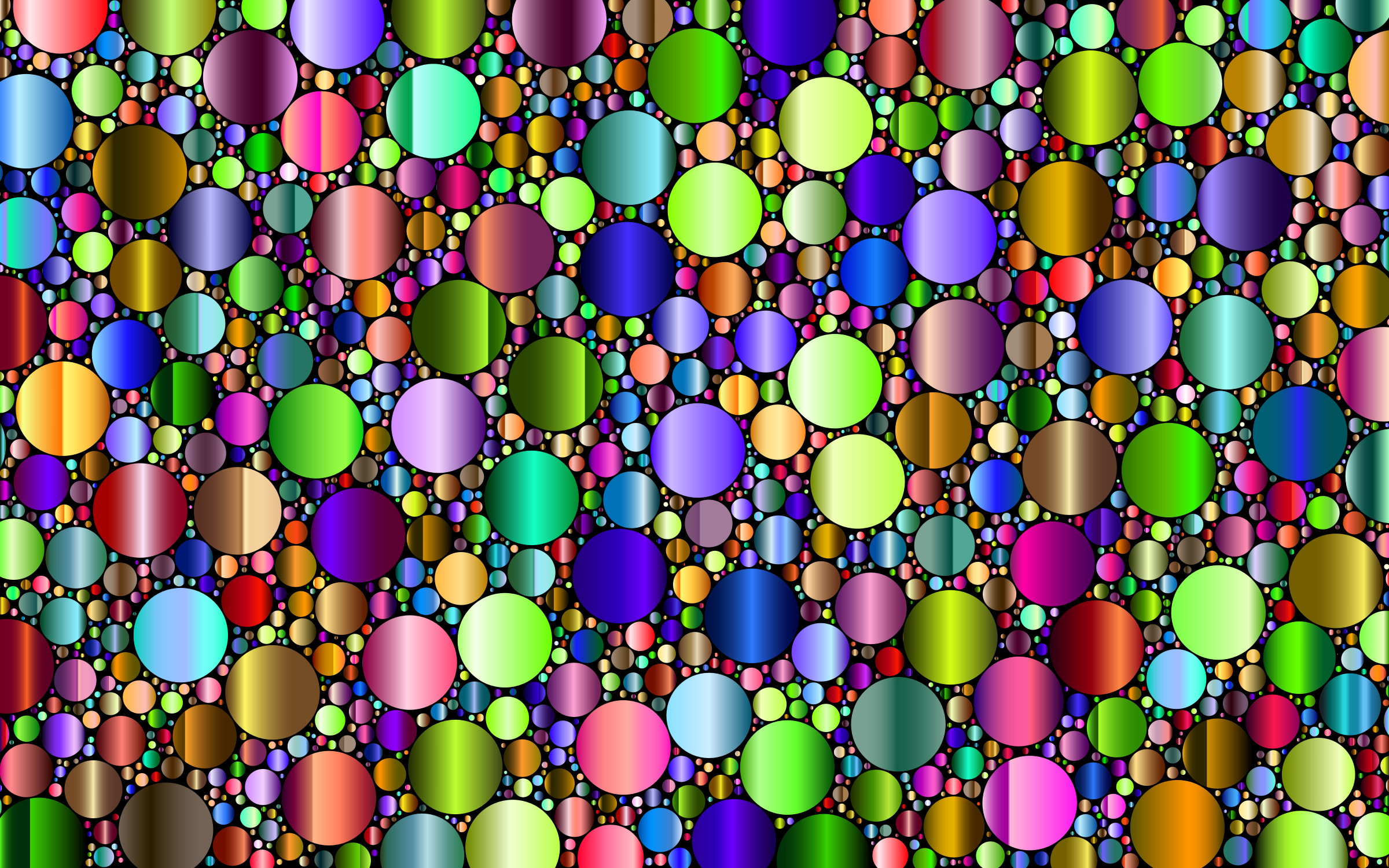 Prismatic Packed Circles 8 by GDJ