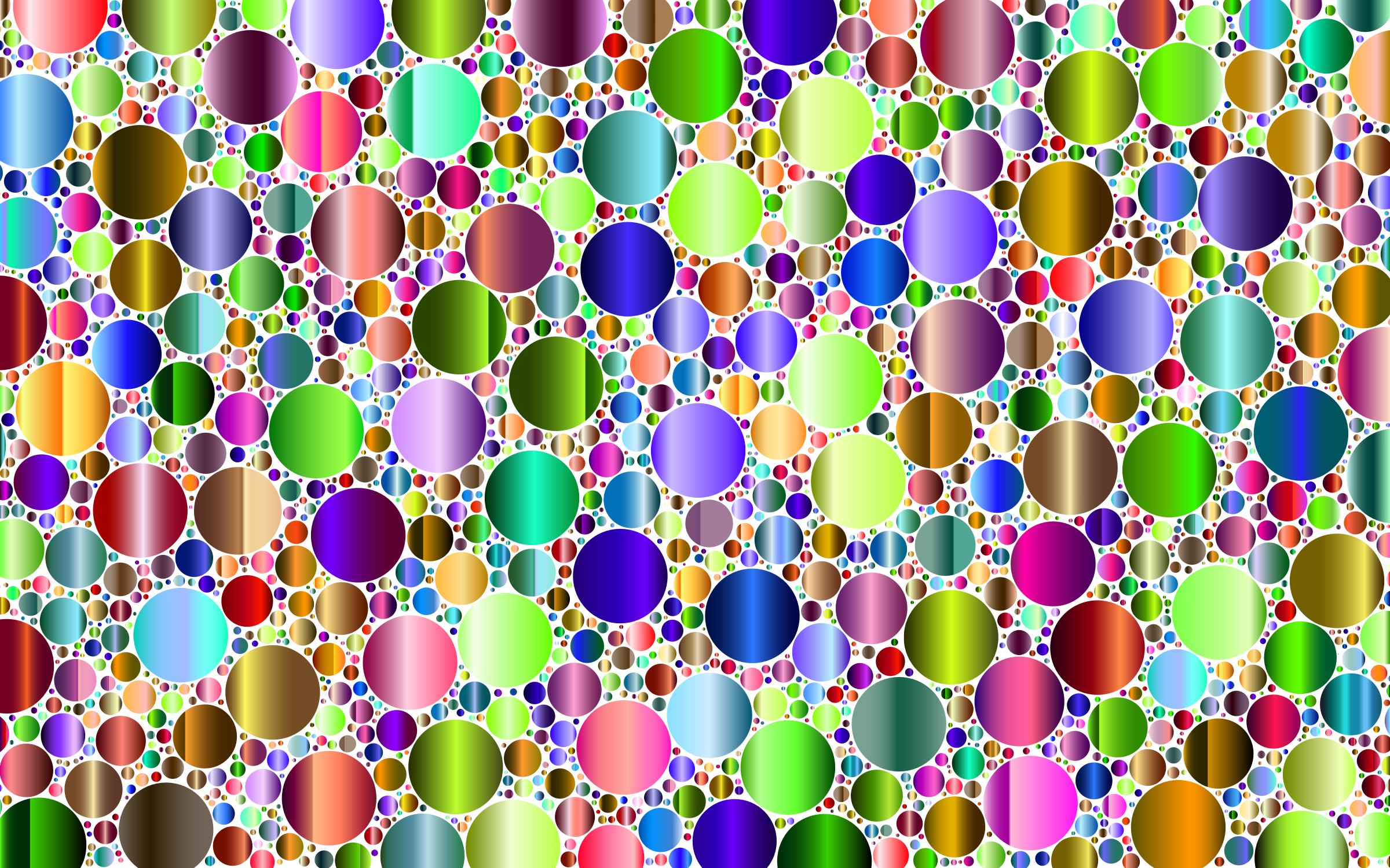 Prismatic Packed Circles 8 No Background by GDJ
