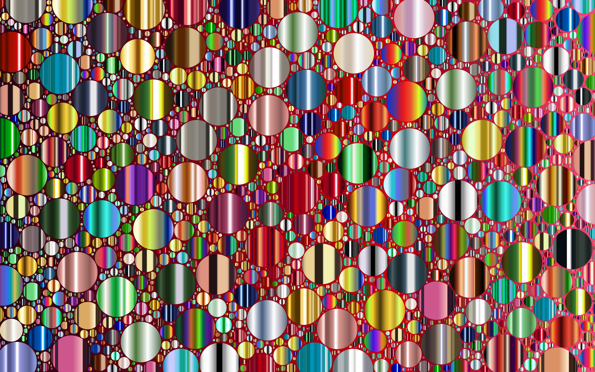 Prismatic Packed Circles 11 by GDJ