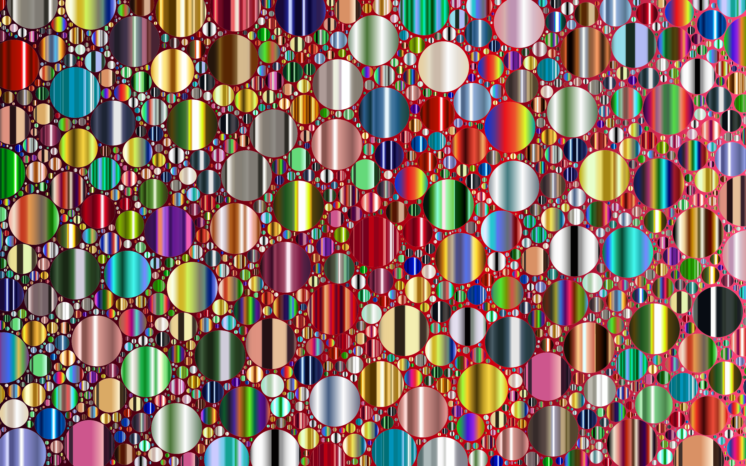 Prismatic Packed Circles 11 No Background by GDJ