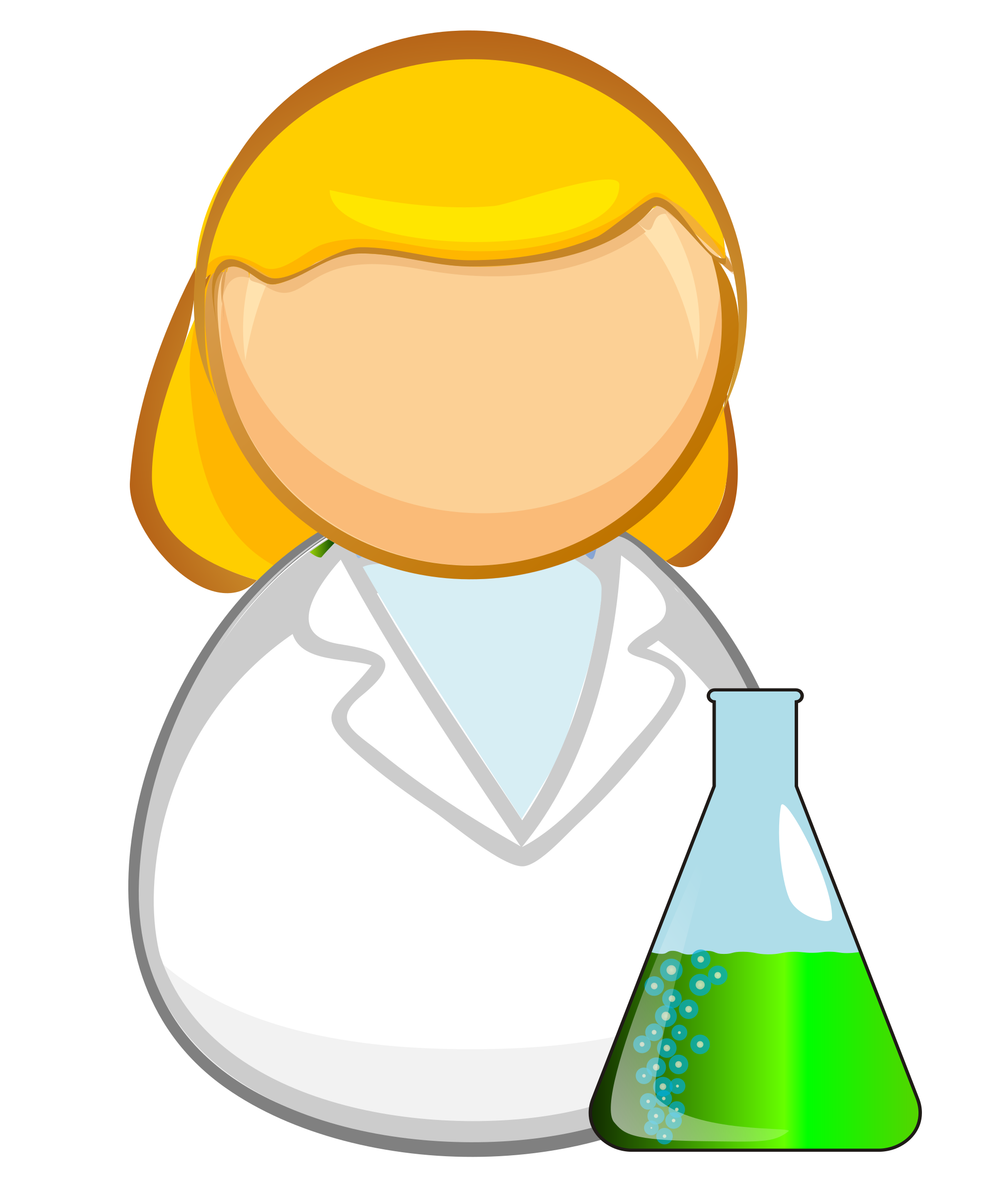 Laboratory worker by Juhele