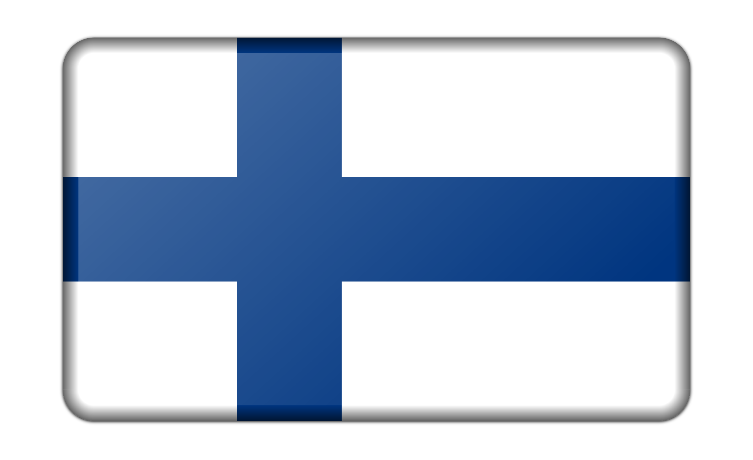 Flag of Finland (bevelled) by Firkin