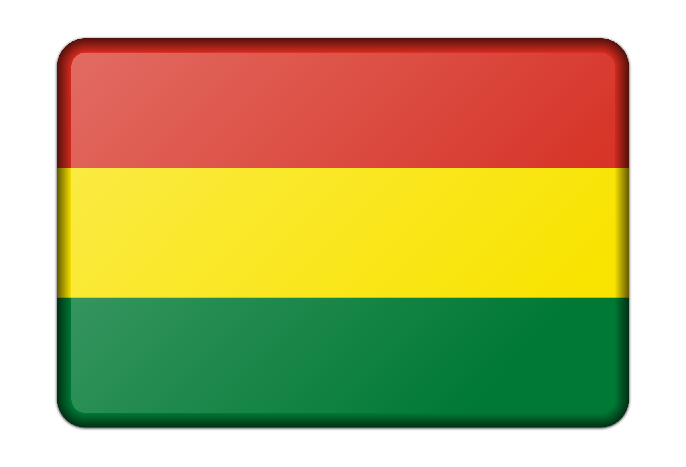 Flag of Bolivia (bevelled) by Firkin