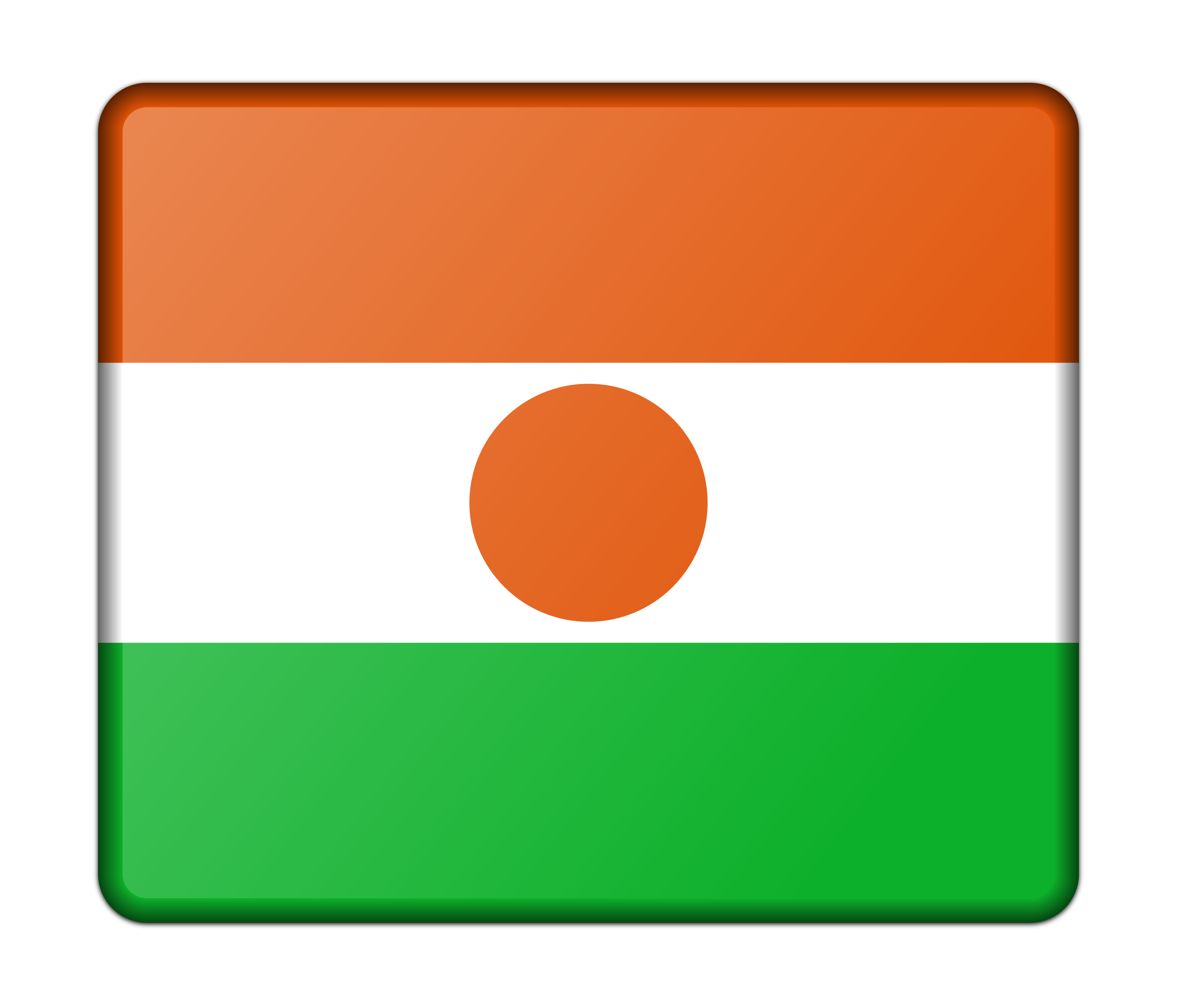 Flag of Niger (bevelled) by Firkin
