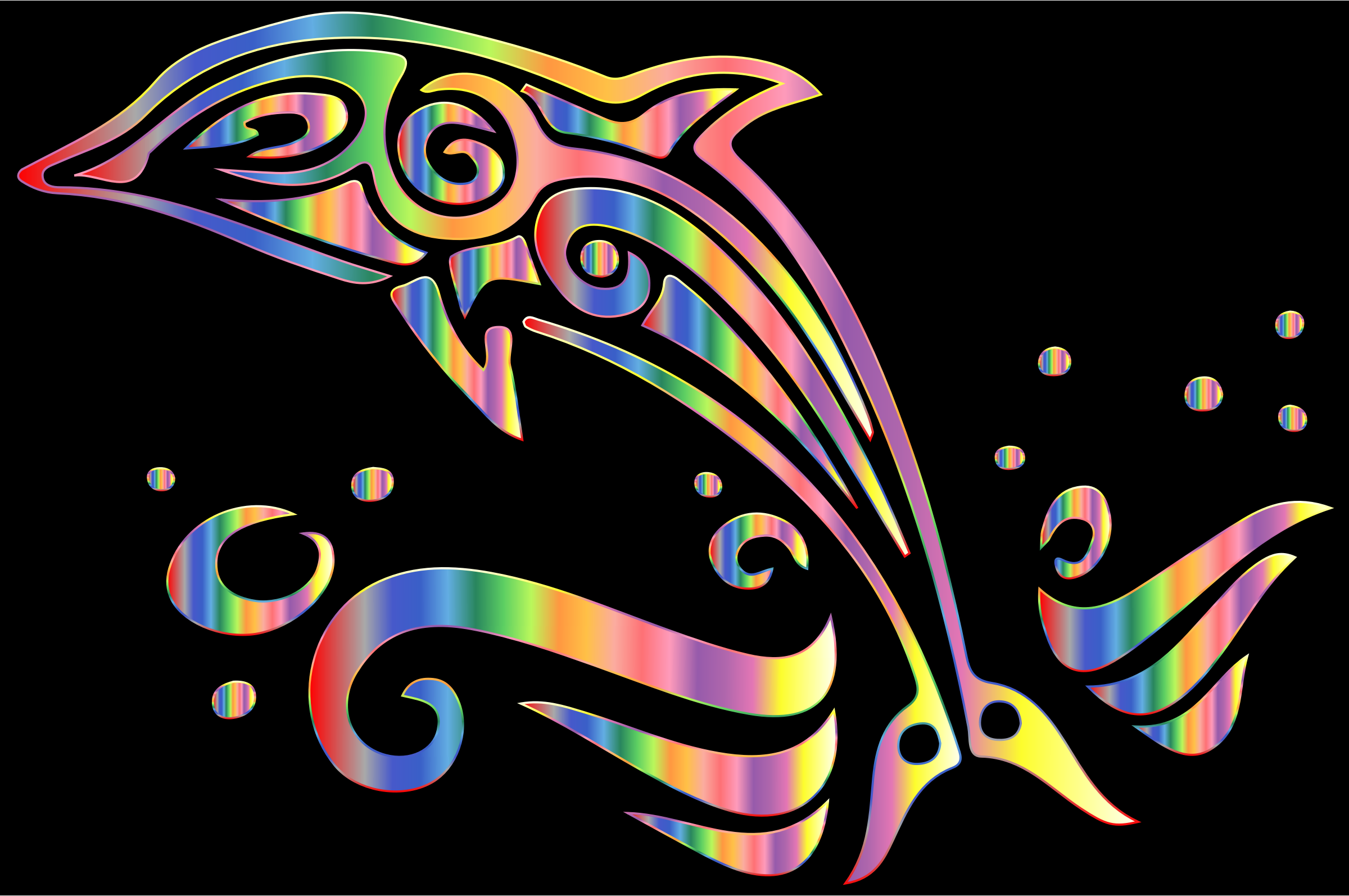 Chromatic Tribal Dolphin 6 by GDJ