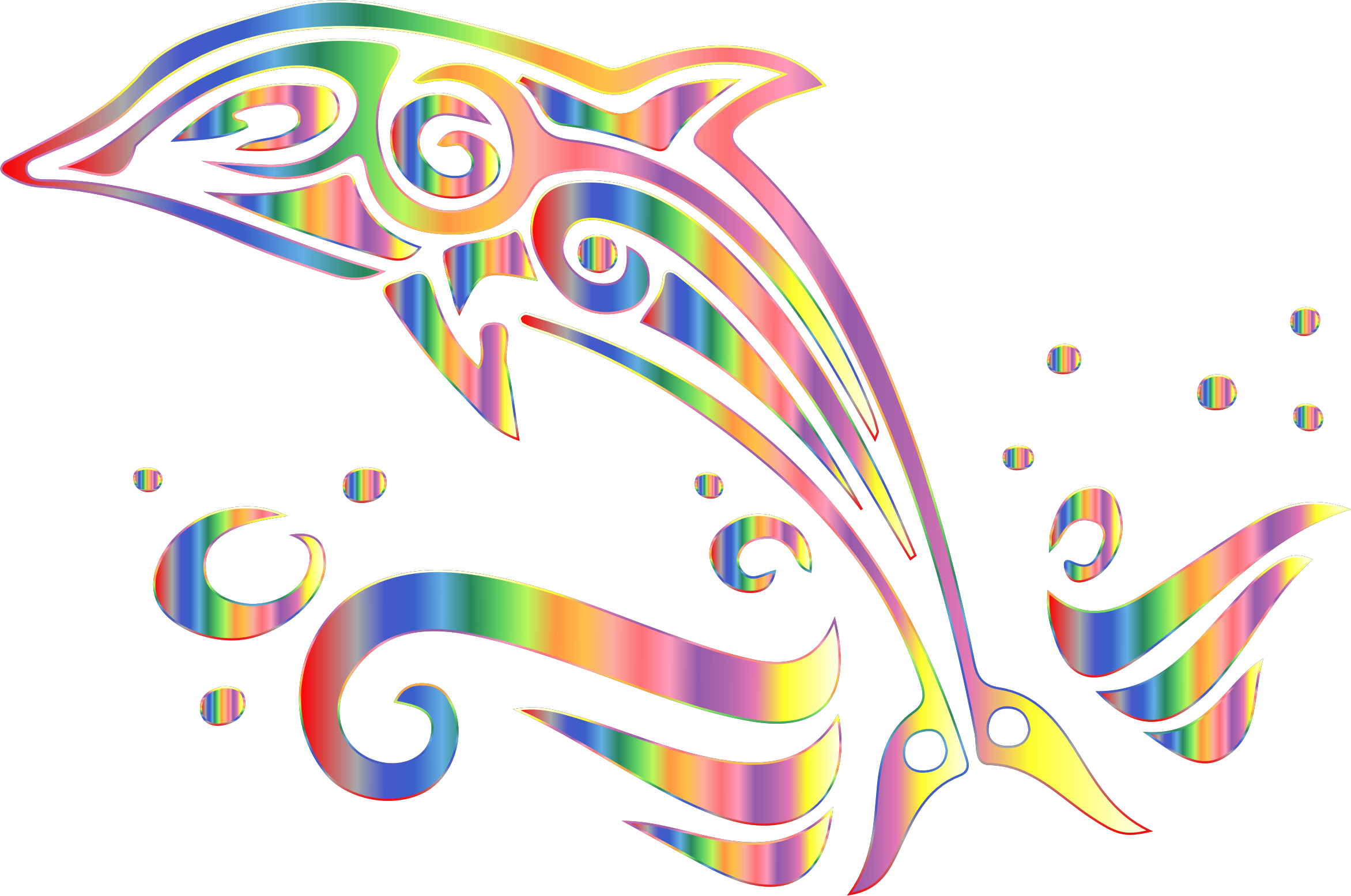 Chromatic Tribal Dolphin 6 No Background by GDJ