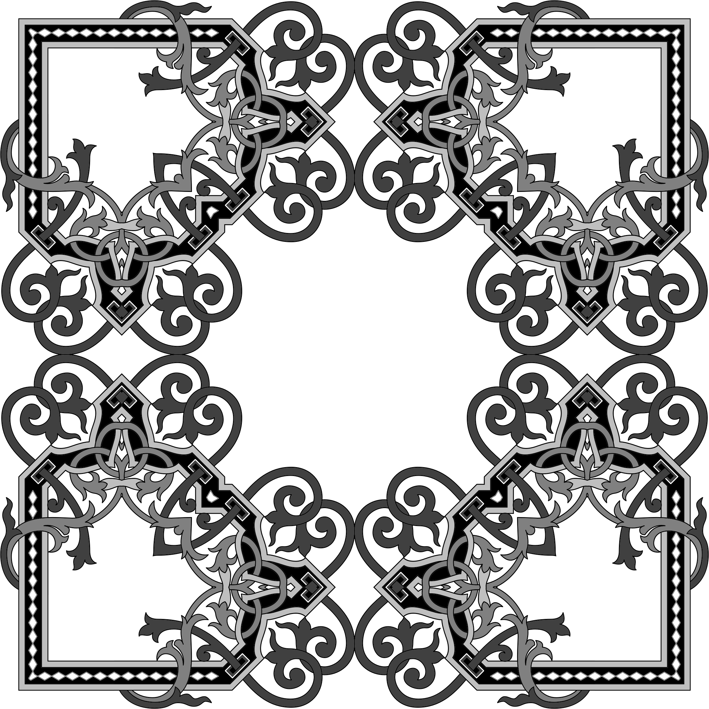 Floral Flourish Frame Interpolated 5 by GDJ