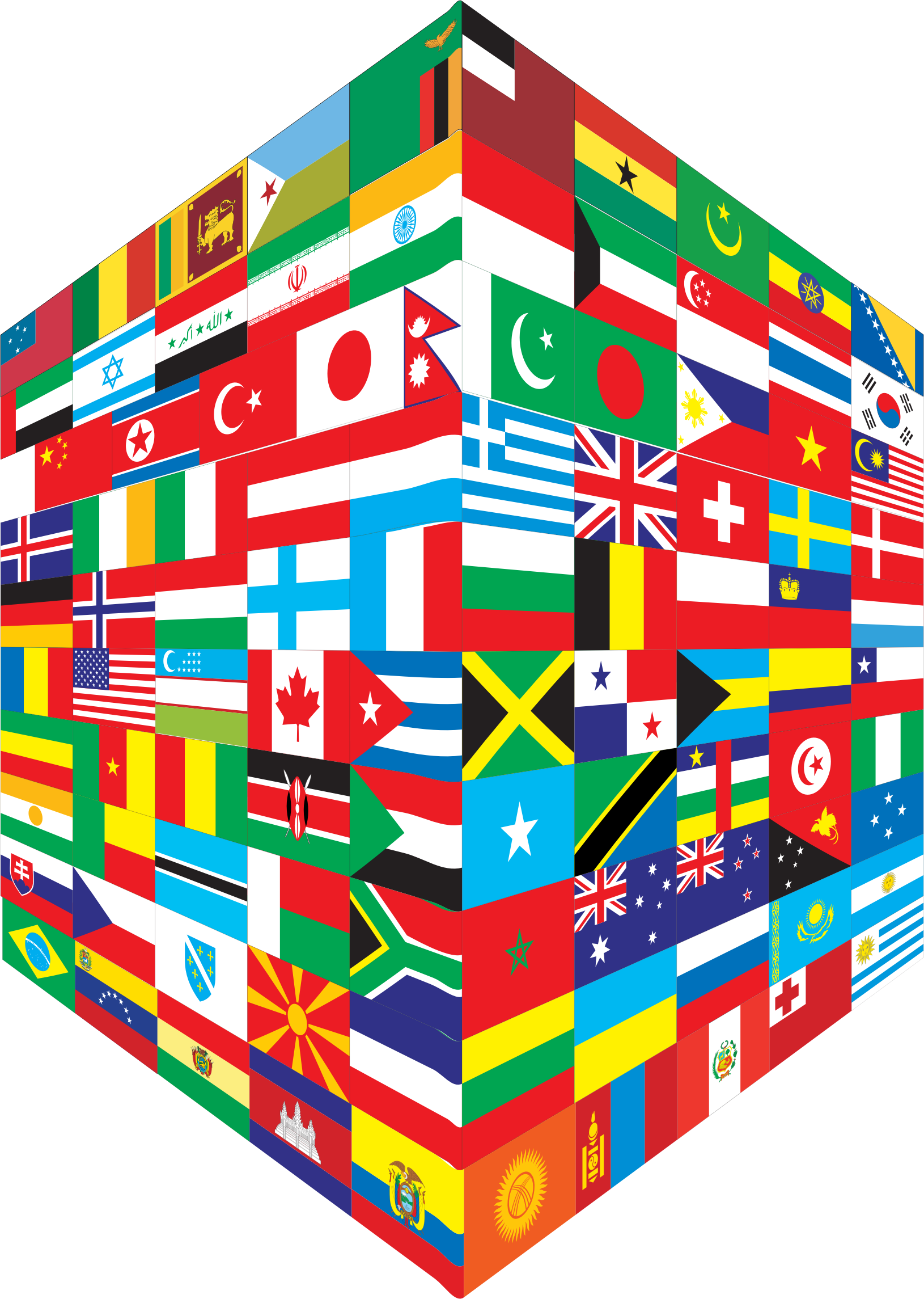 World Flags Cube by GDJ
