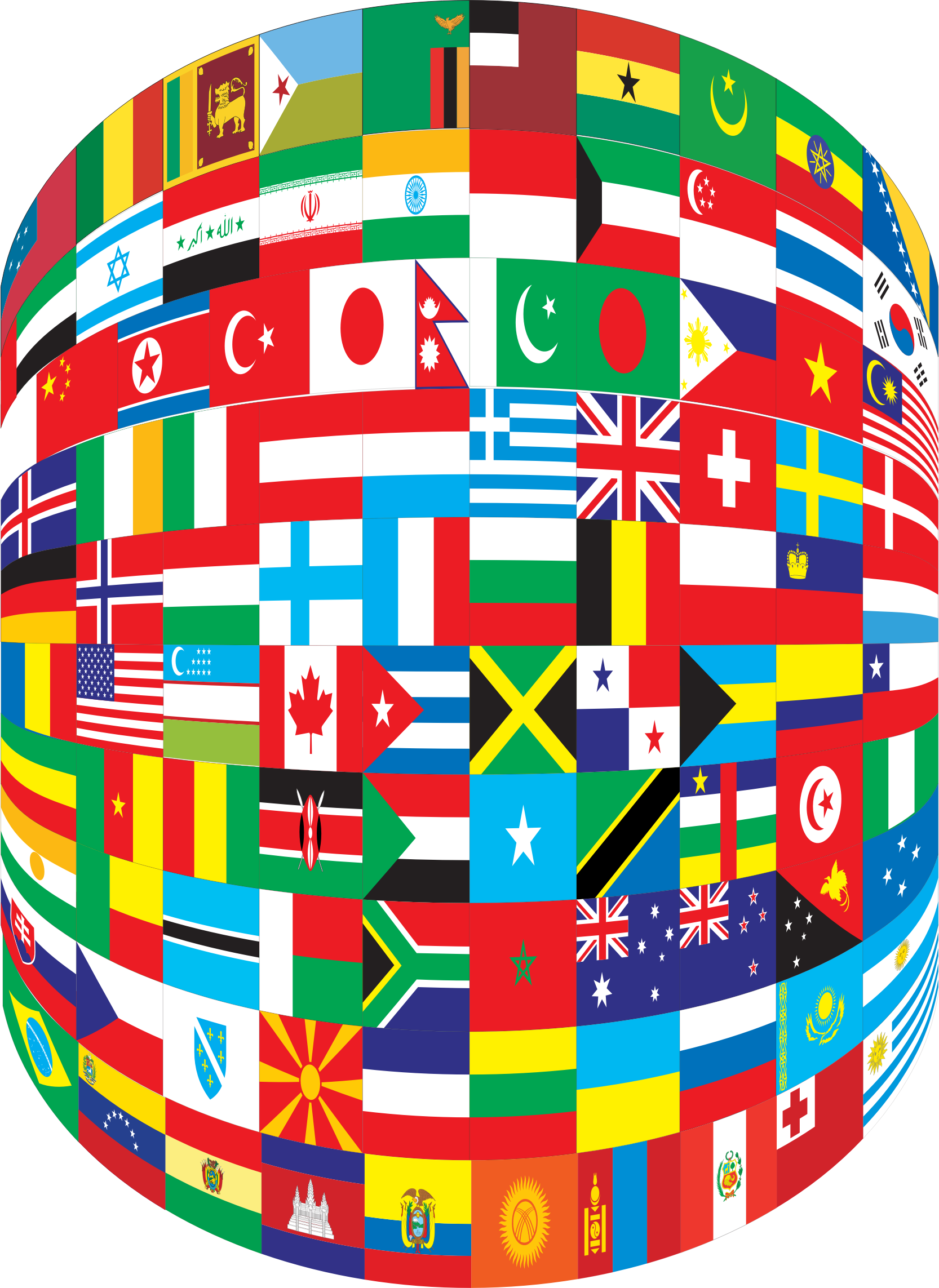 World Flags Cylinder by GDJ