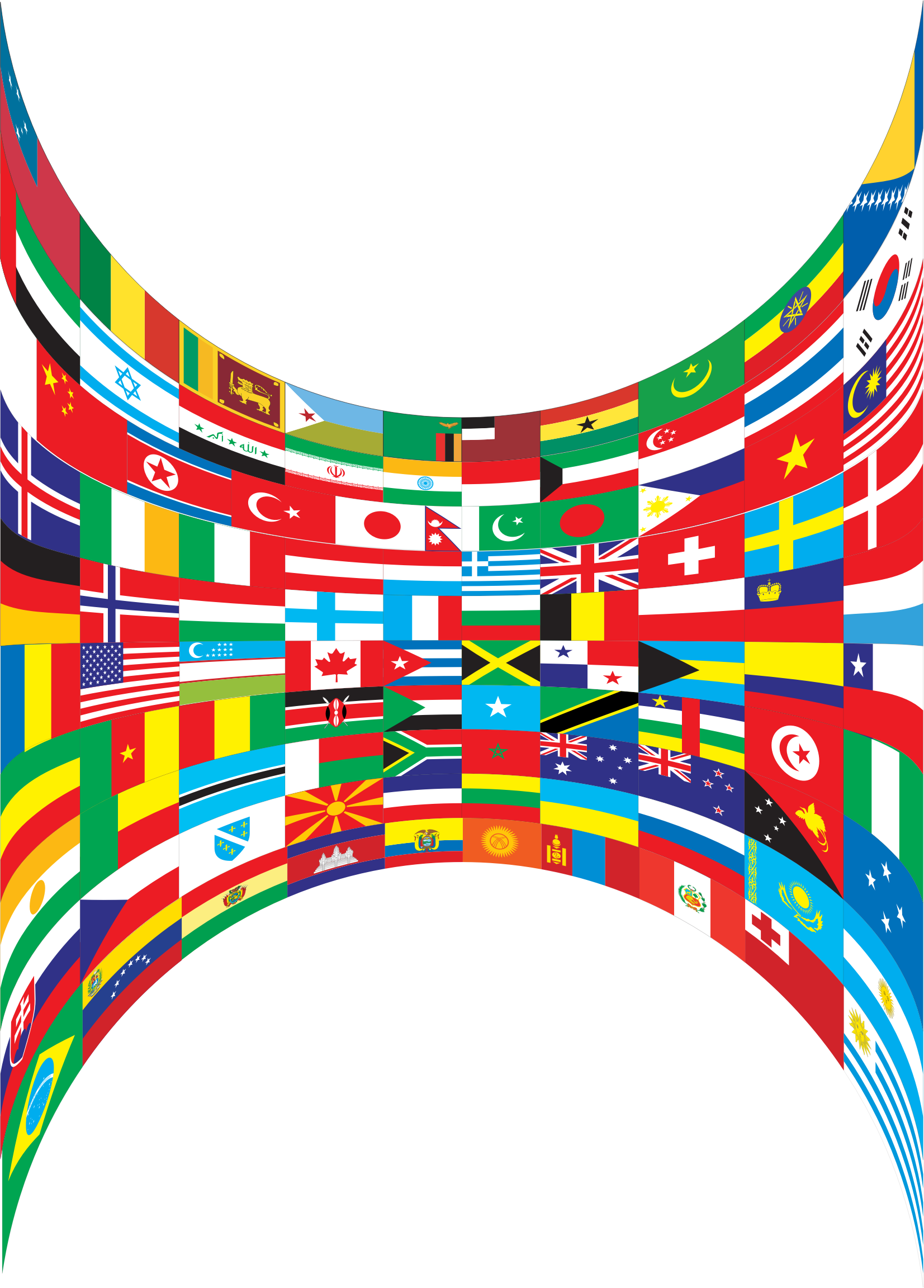 World Flags Perspective by GDJ