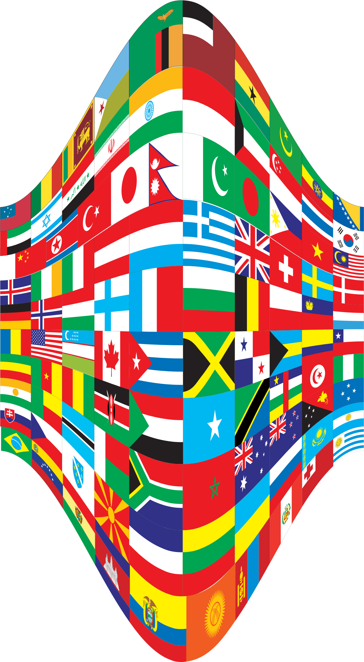 World Flags Perspective 2 by GDJ