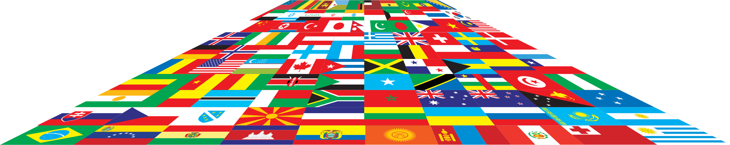 World Flags Perspective 3 by GDJ