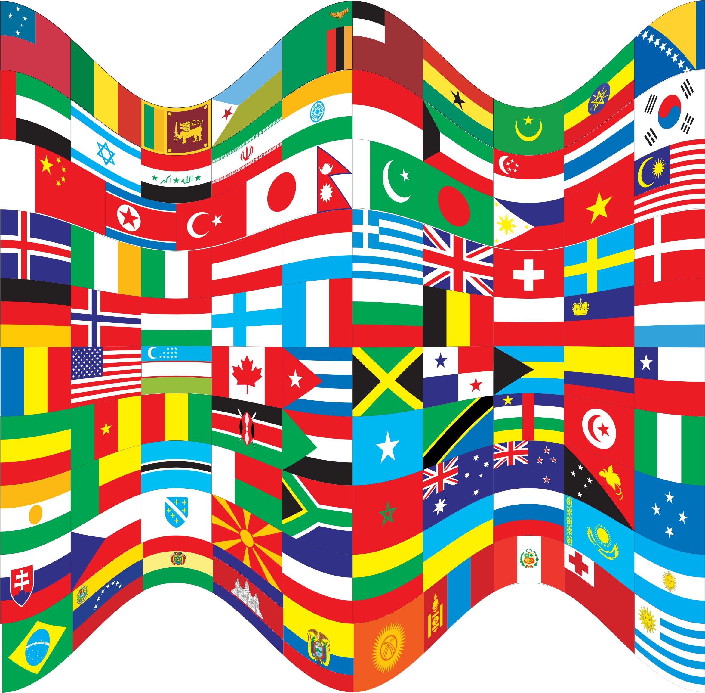 World Flags Wavy by GDJ