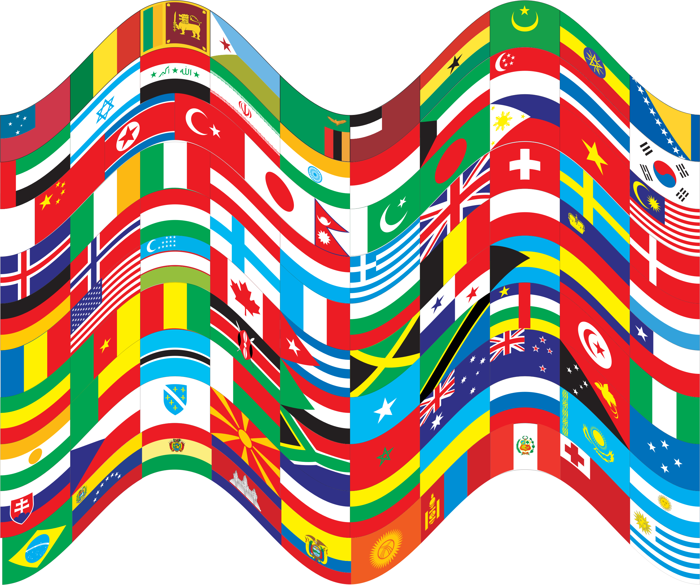 World Flags Wavy 2 by GDJ