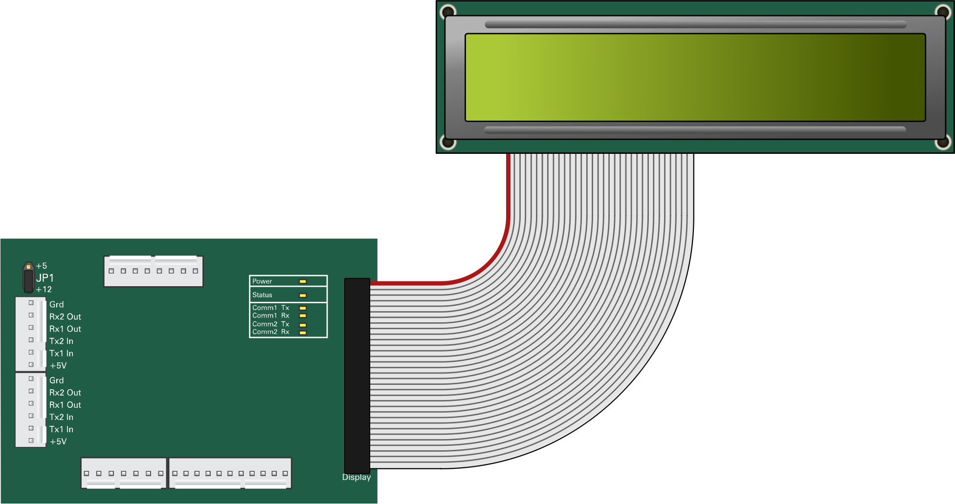 LCD display with circuit board by fixumdude