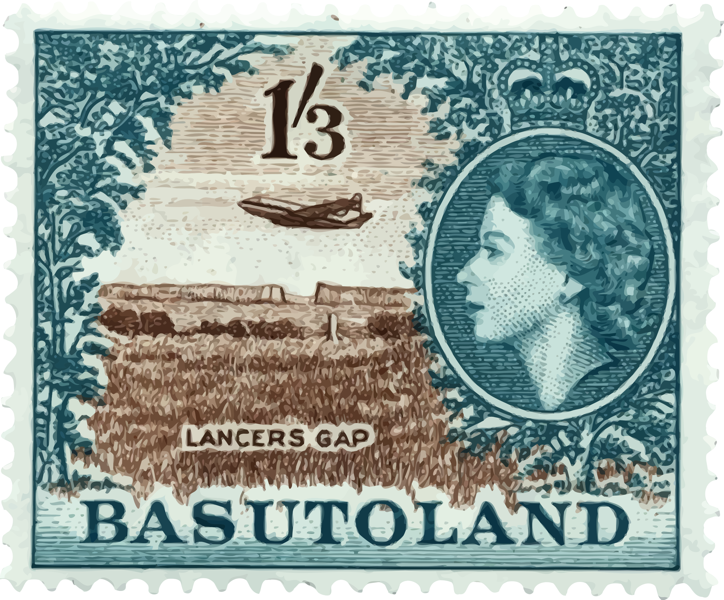 Basutoland stamp 2 by Firkin