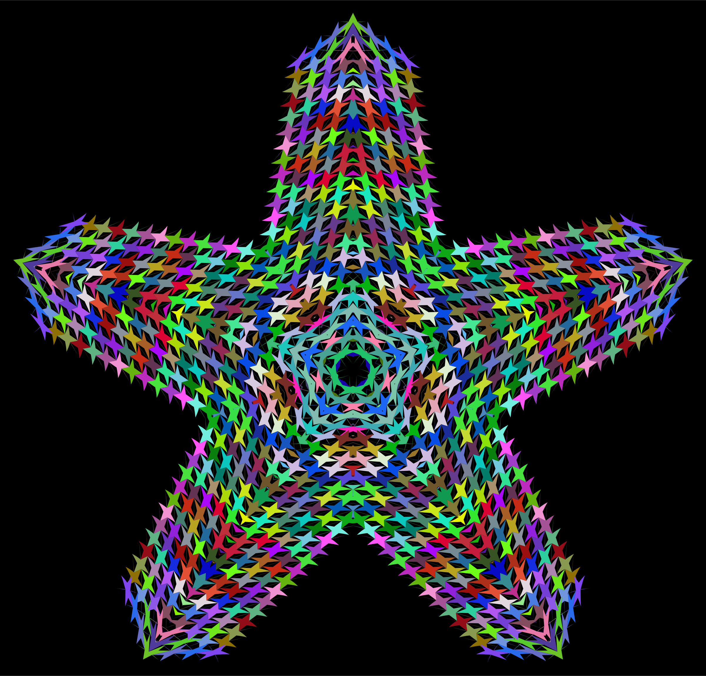 Prismatic Perforated Star by GDJ