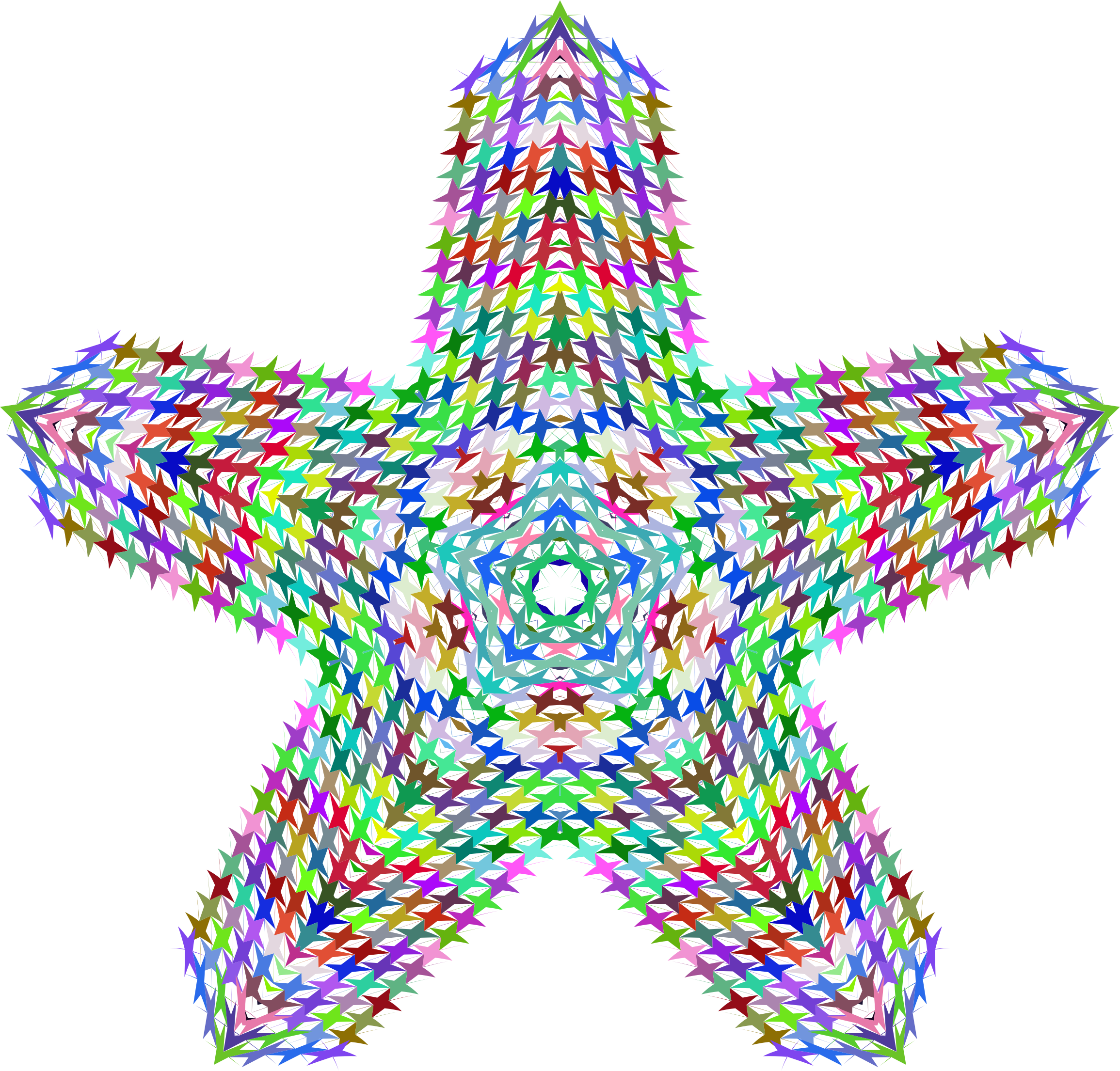 Prismatic Perforated Star No Background by GDJ
