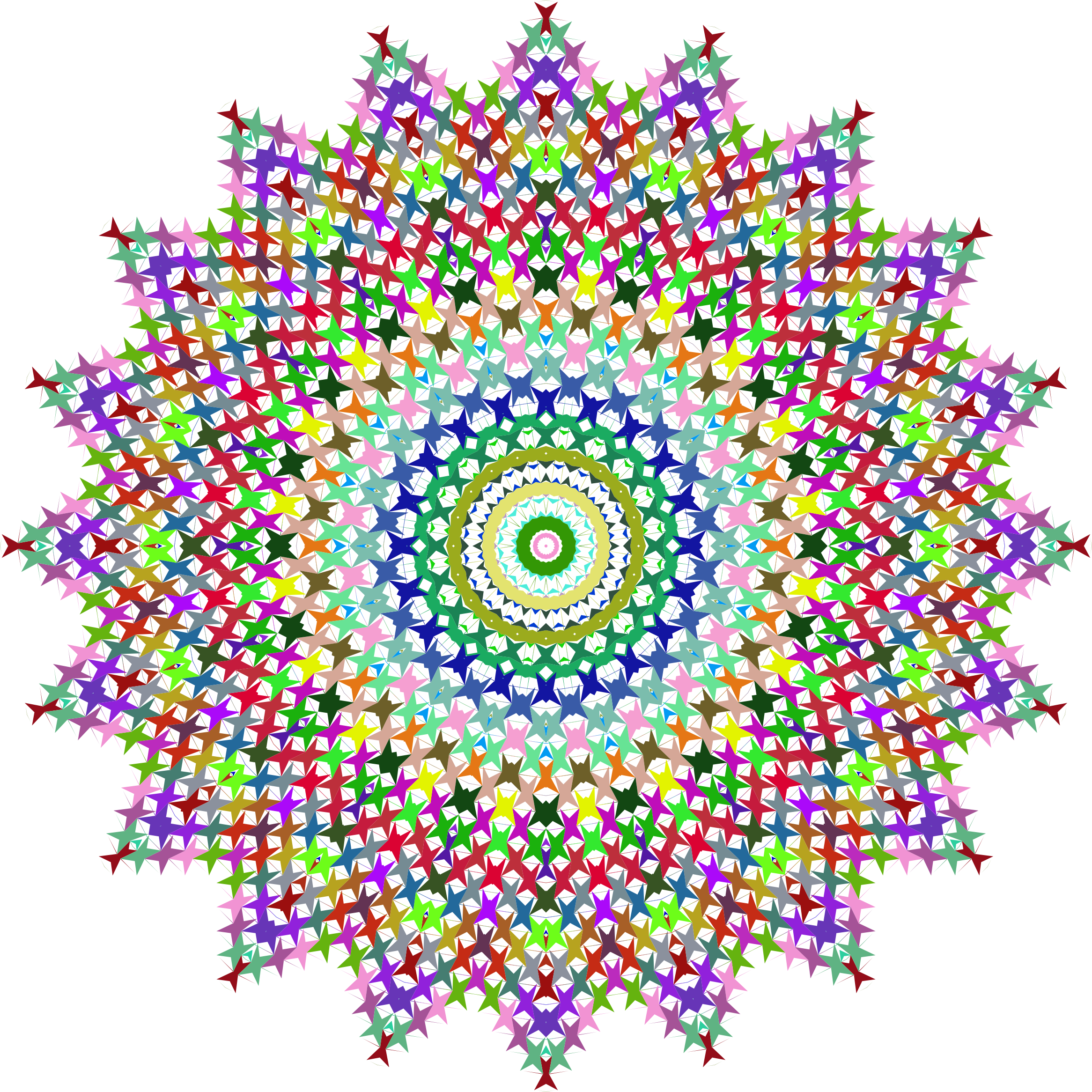 Prismatic Perforated Mandala No Background by GDJ