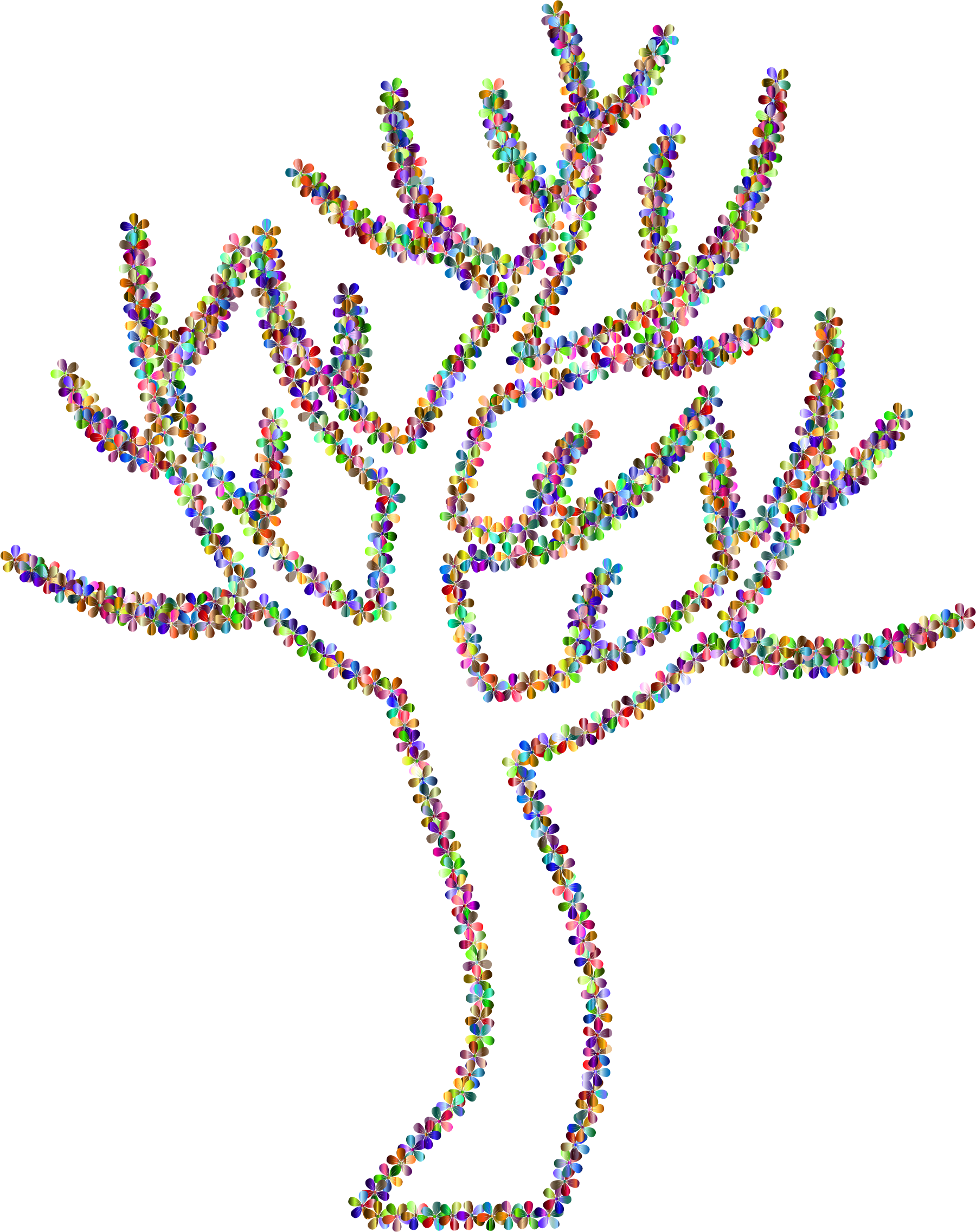 Prismatic Floral Simple Tree 2 by GDJ