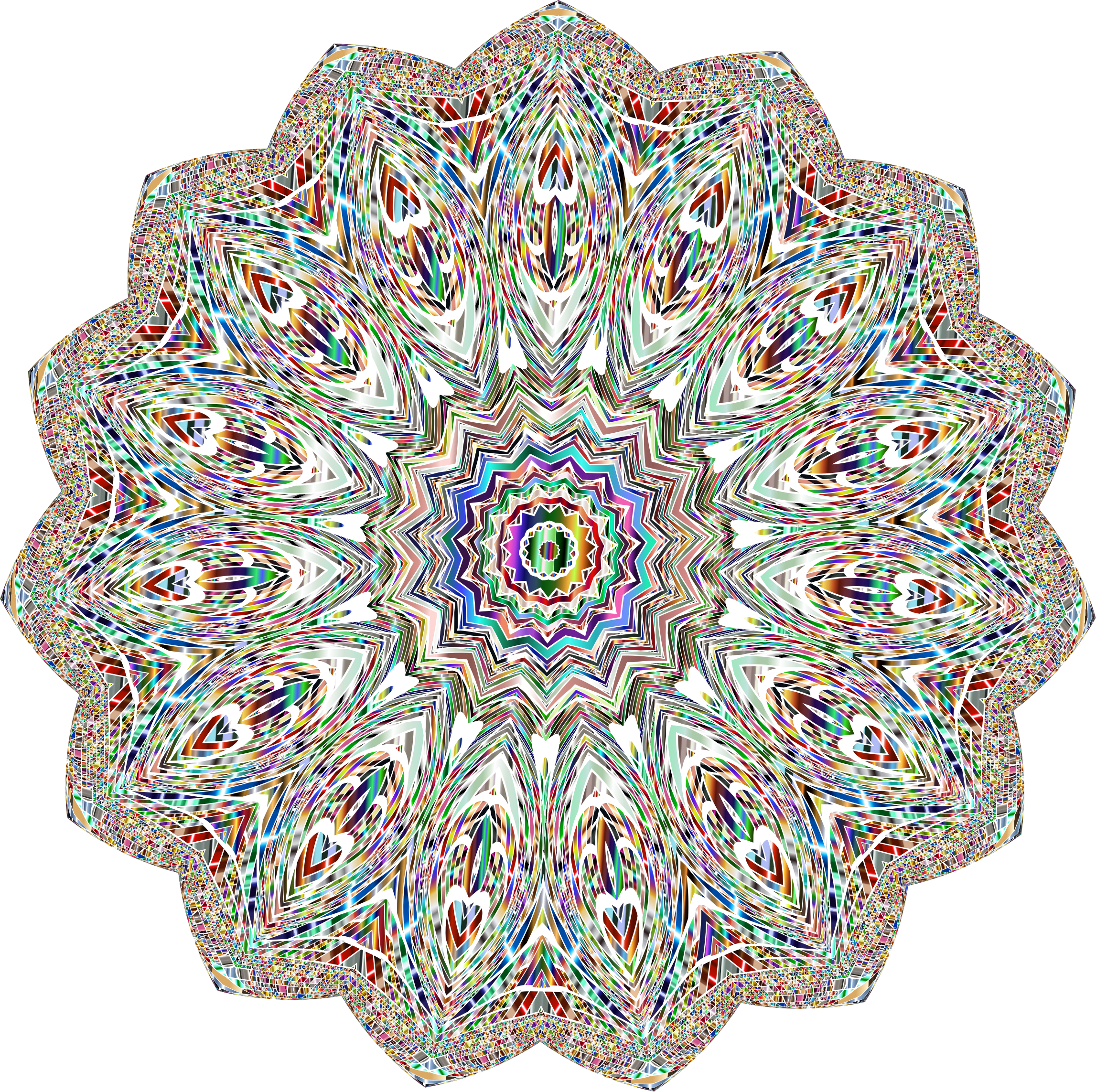 Polished Chromatic Mandala 2 No Background by GDJ