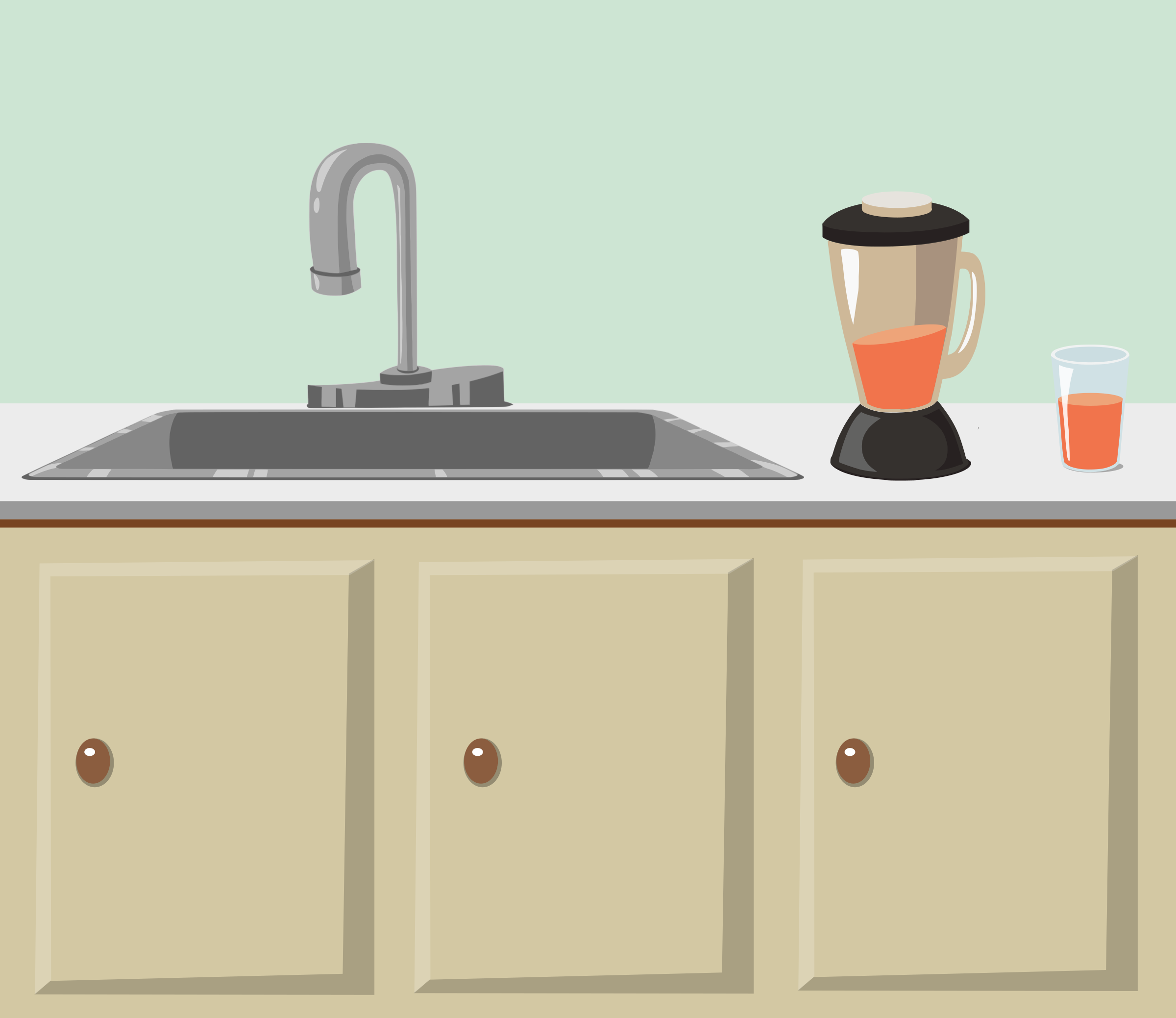 Kitchen counter and sink from Glitch by anarres
