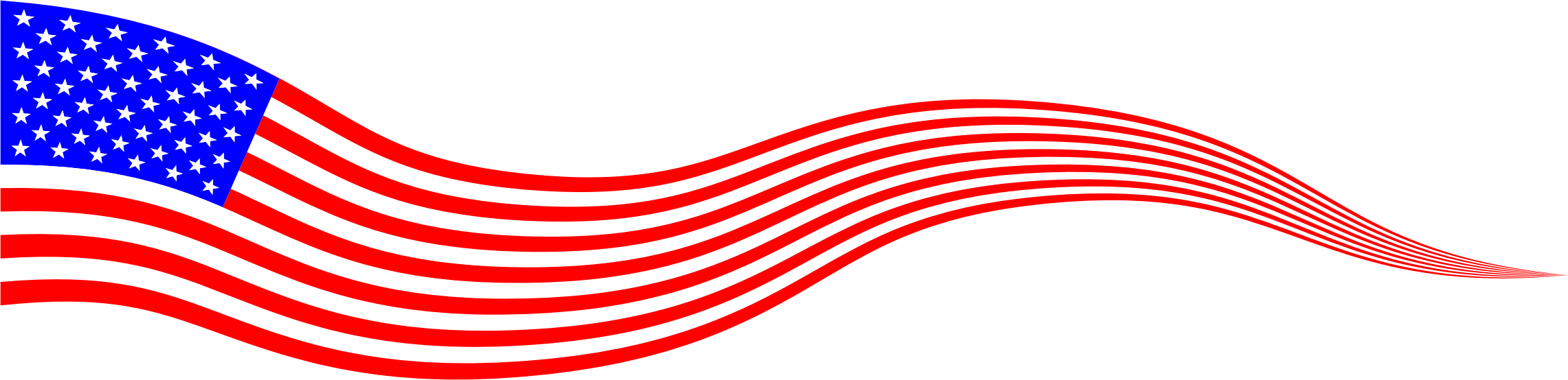 Wavy USA Flag Banner by GDJ
