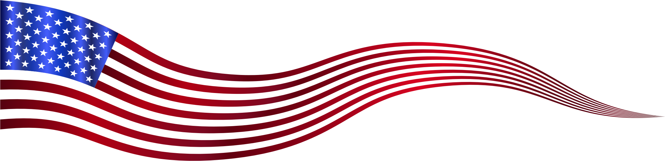 Wavy USA Flag Banner Variation 2 by GDJ
