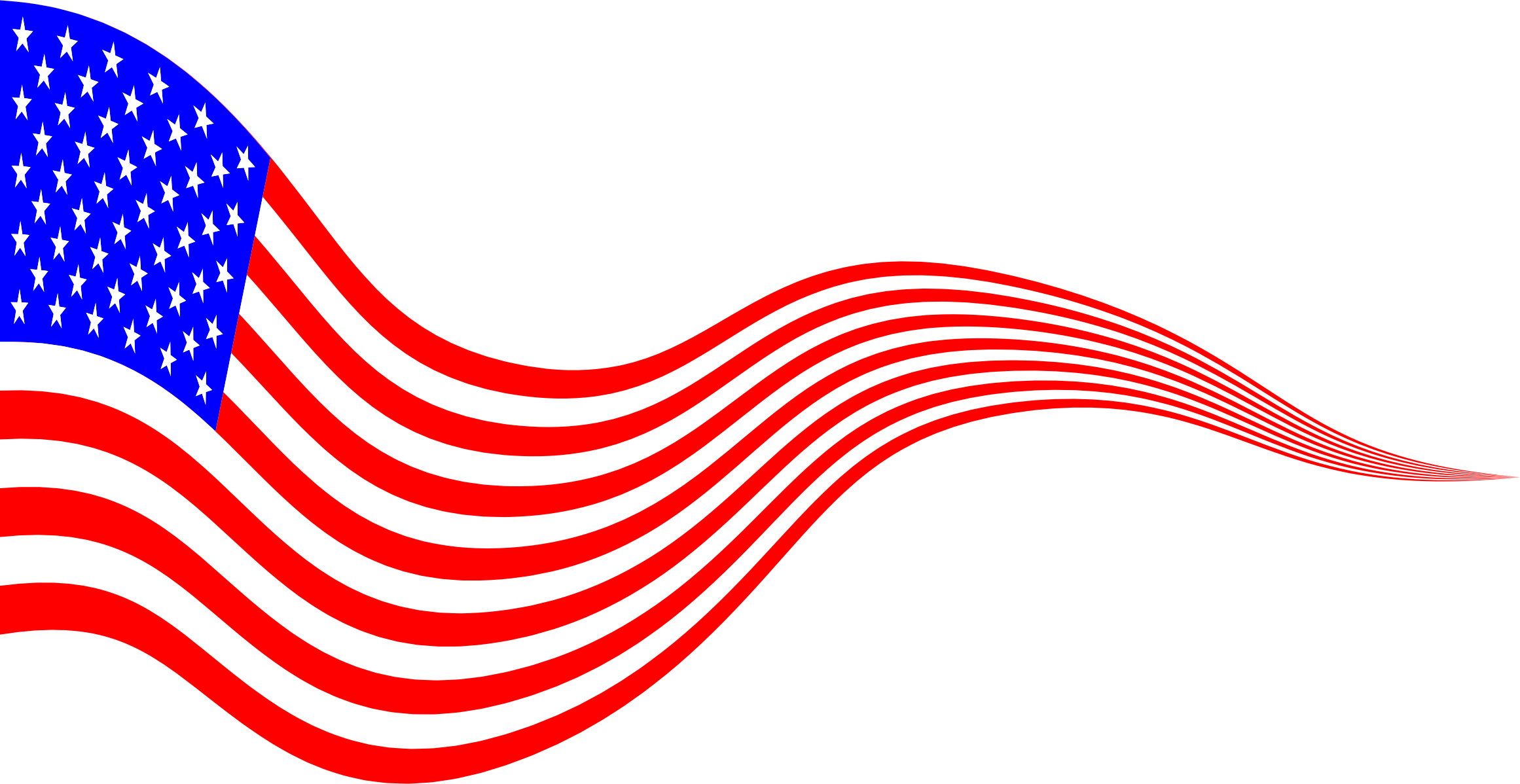 Wavy USA Flag Banner 2 by GDJ