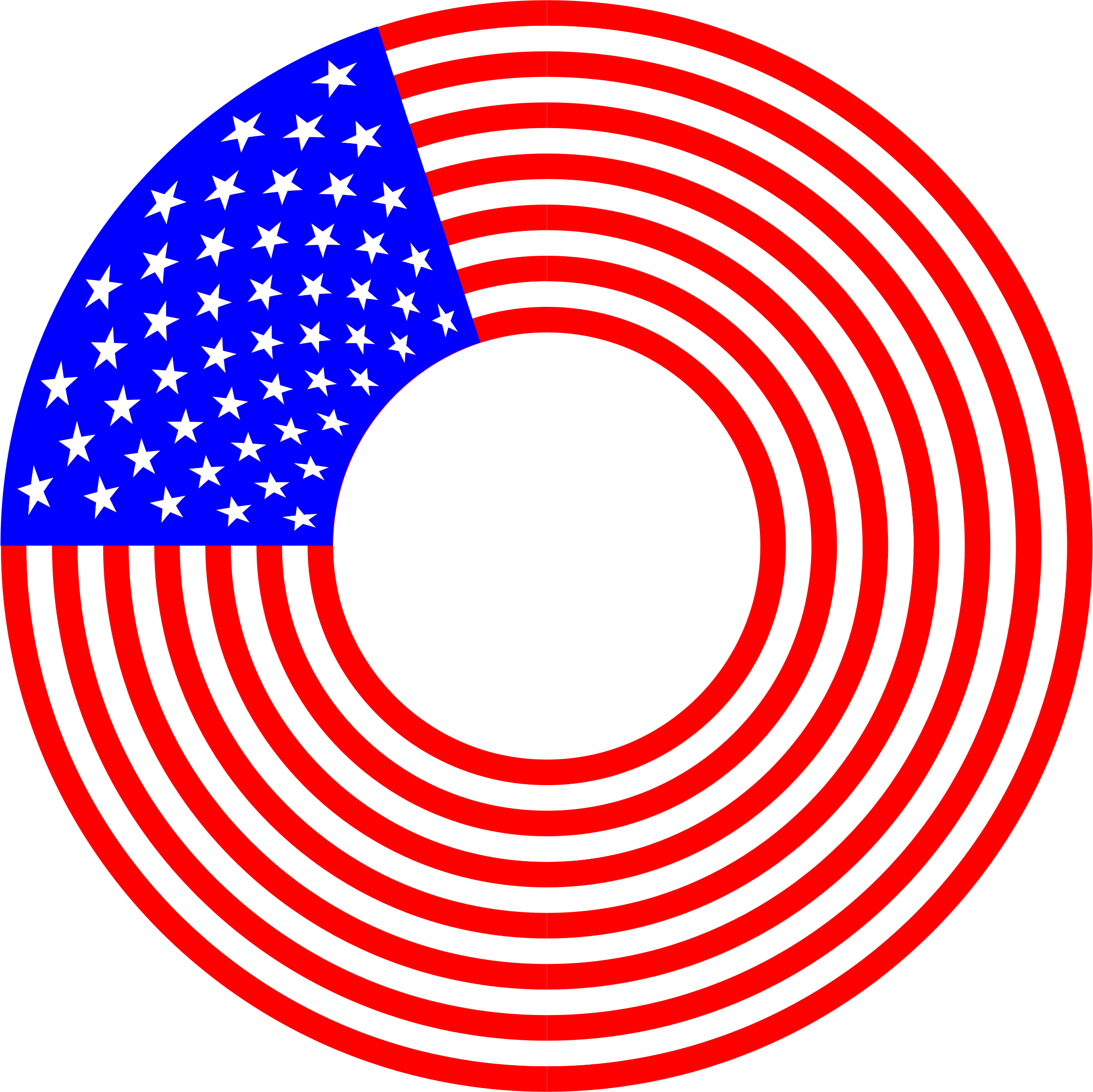 Stars And Stripes Circle 2 by GDJ