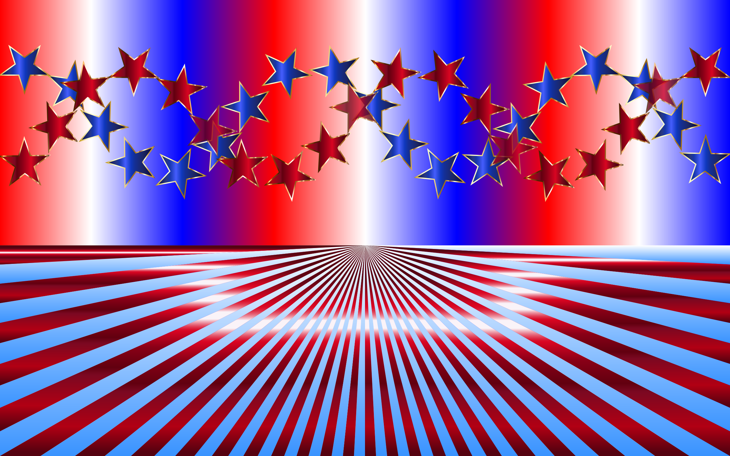 Red White Blue Background by GDJ