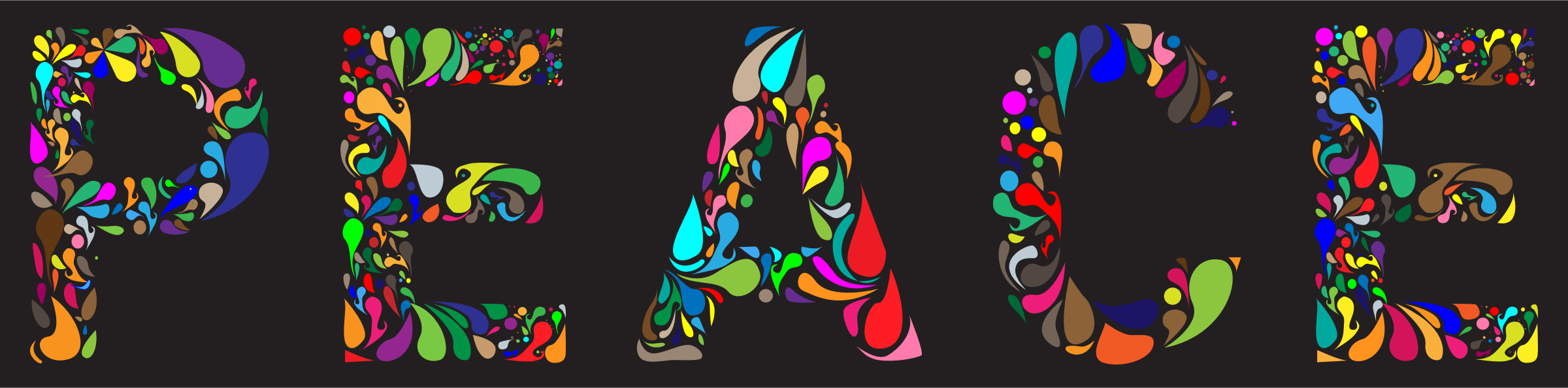 Prismatic Peace Typography by GDJ