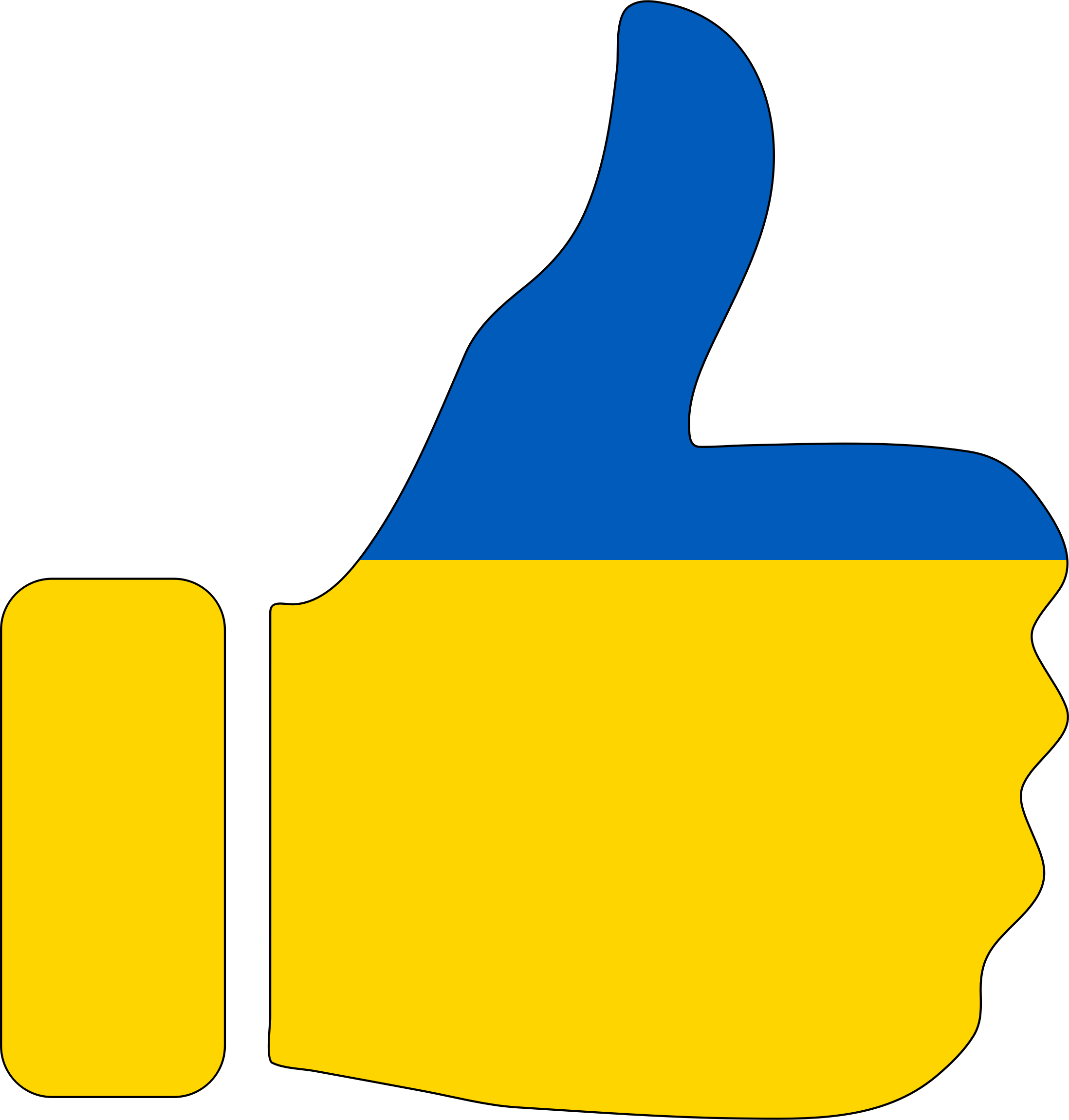 Thumbs Up Ukraine With Stroke by GDJ