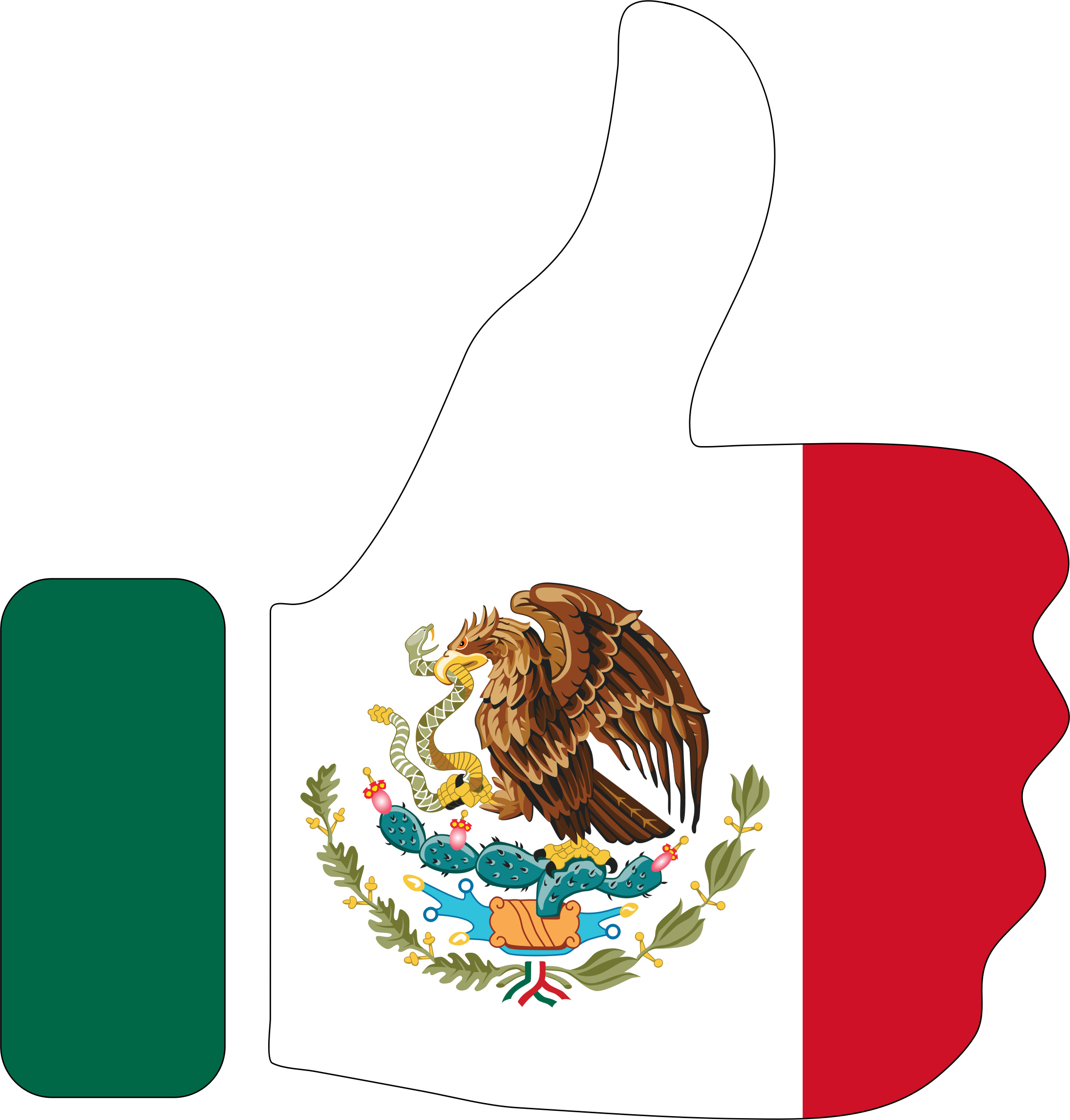 Thumbs Up Mexico With Stroke by GDJ