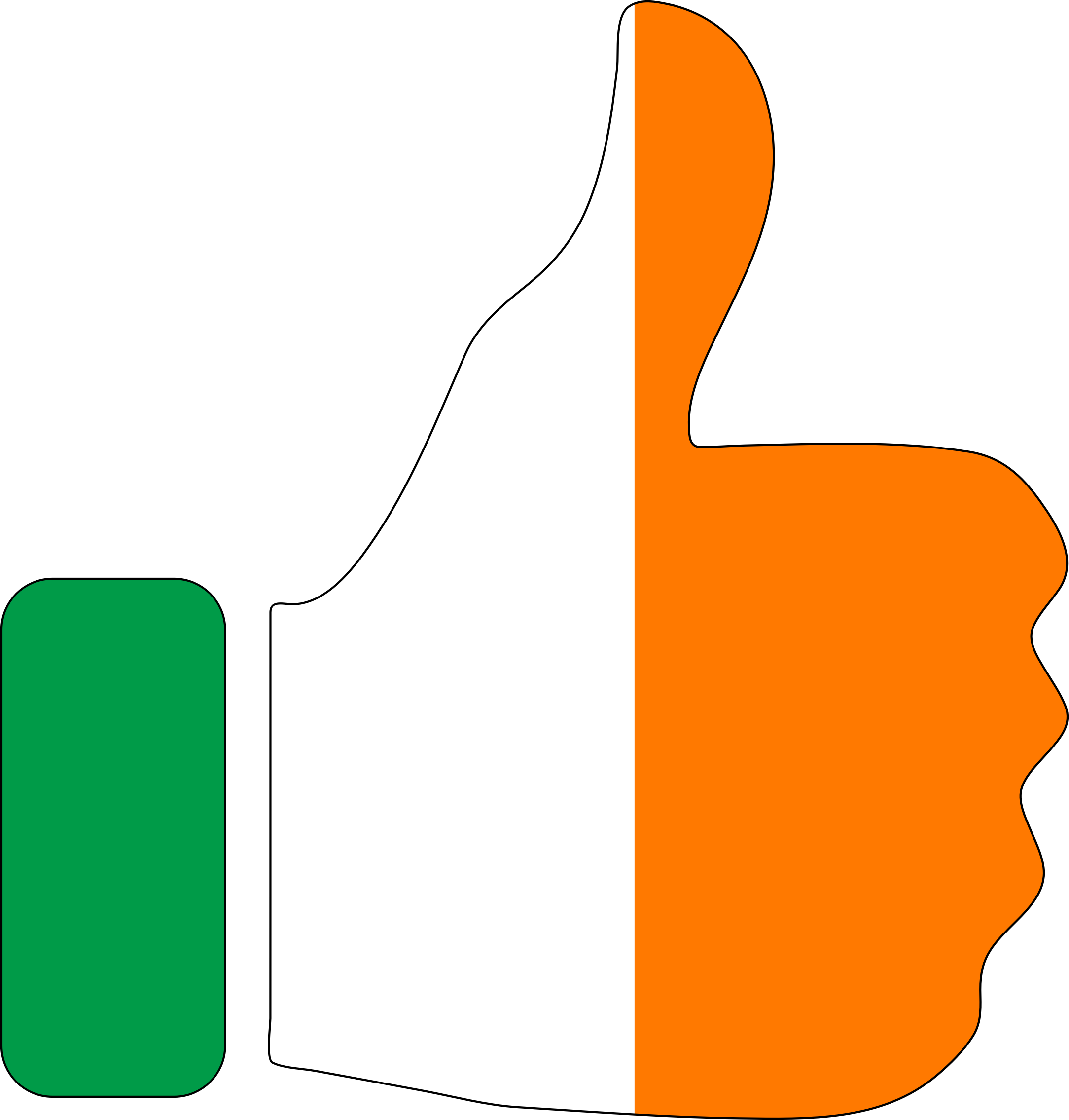 Thumbs Up Ireland With Stroke by GDJ