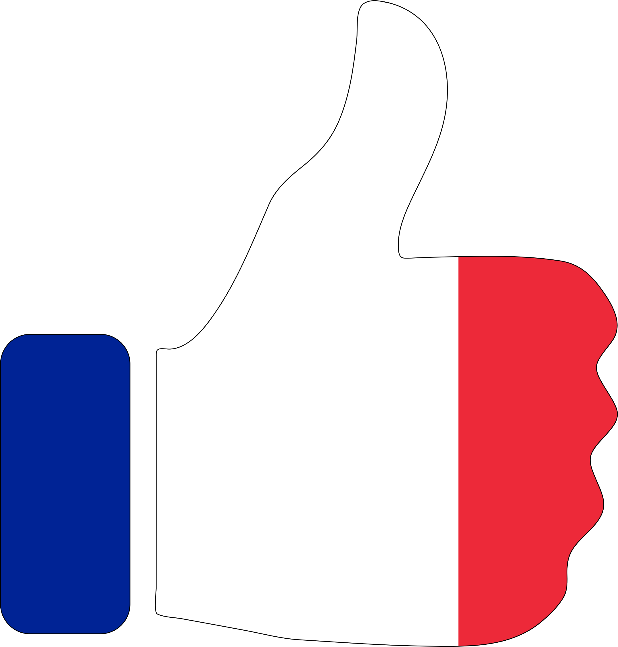 Clipart - Thumbs Up France With Stroke