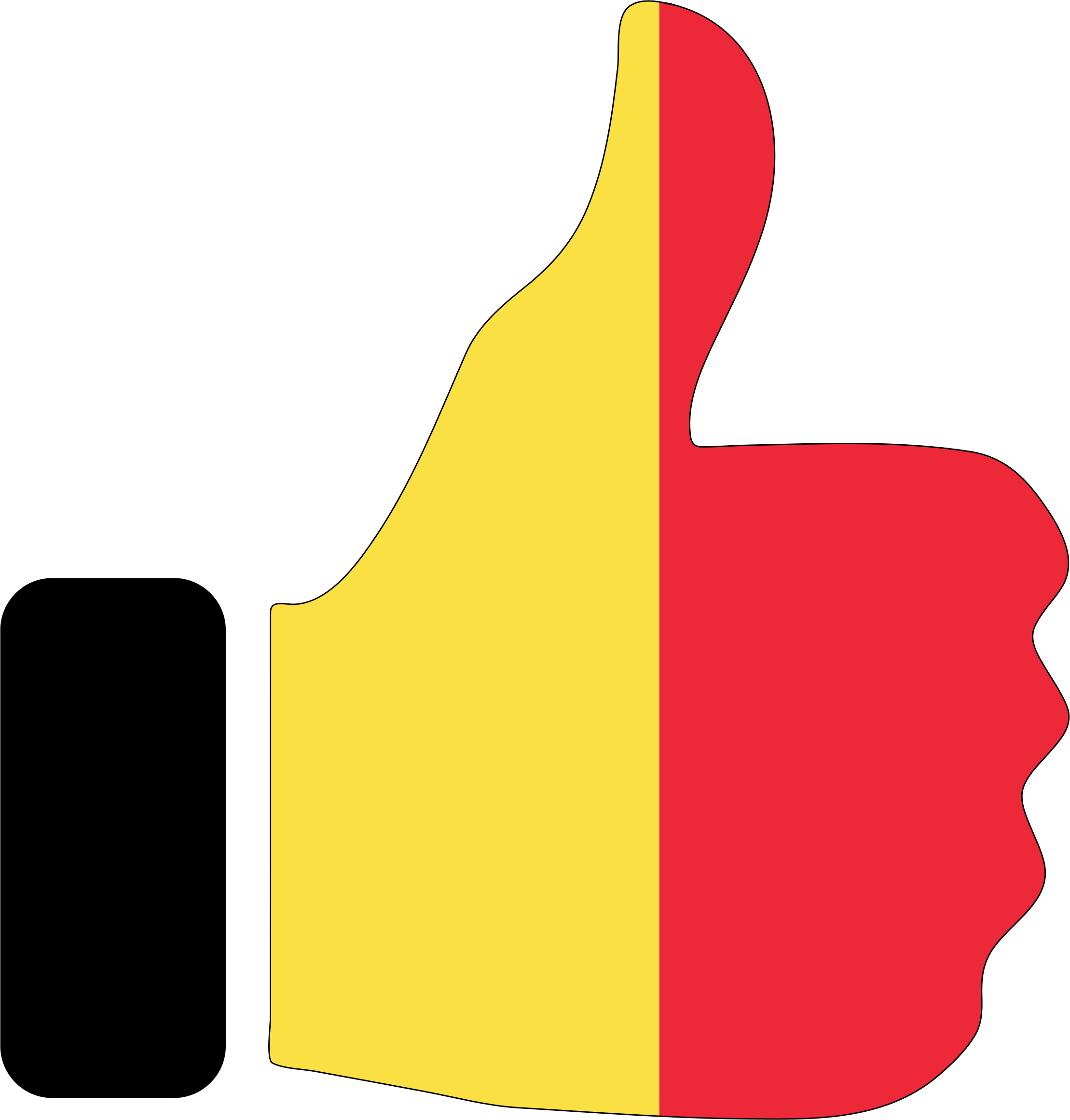 Thumbs Up Belgium With Stroke by GDJ