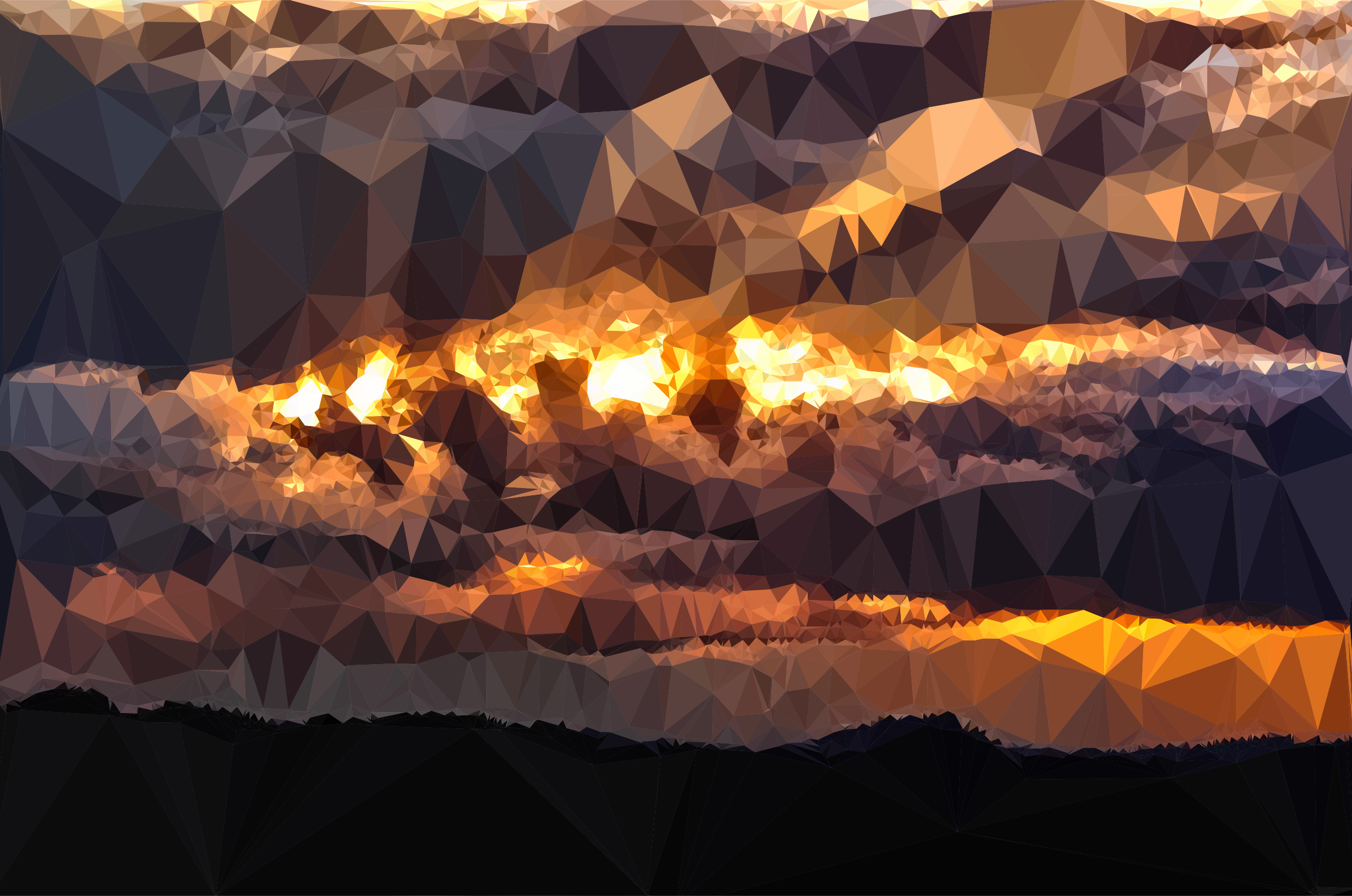 Low Poly Golden Cumulus Sunset by GDJ