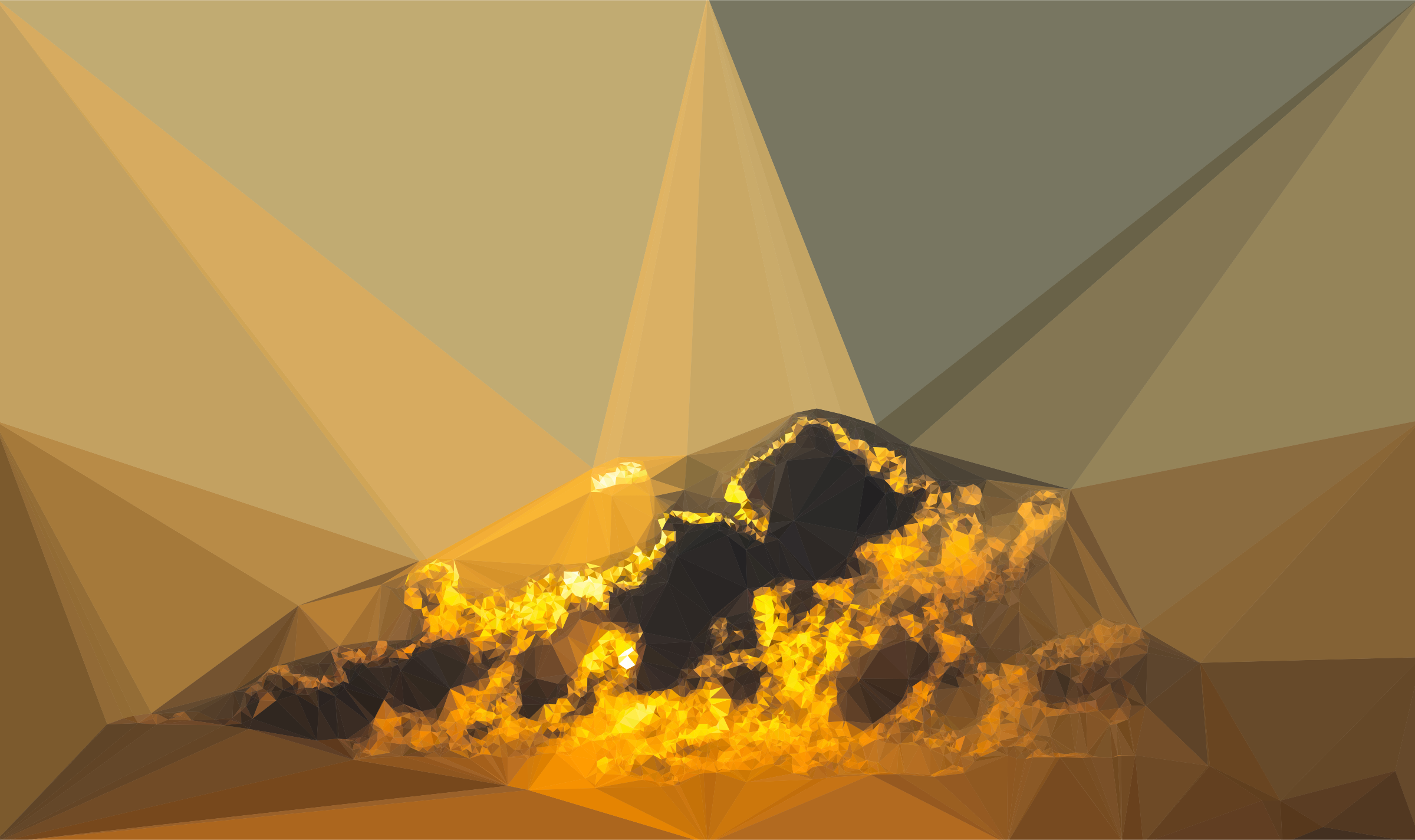 Low Poly Incandescent Amber by GDJ
