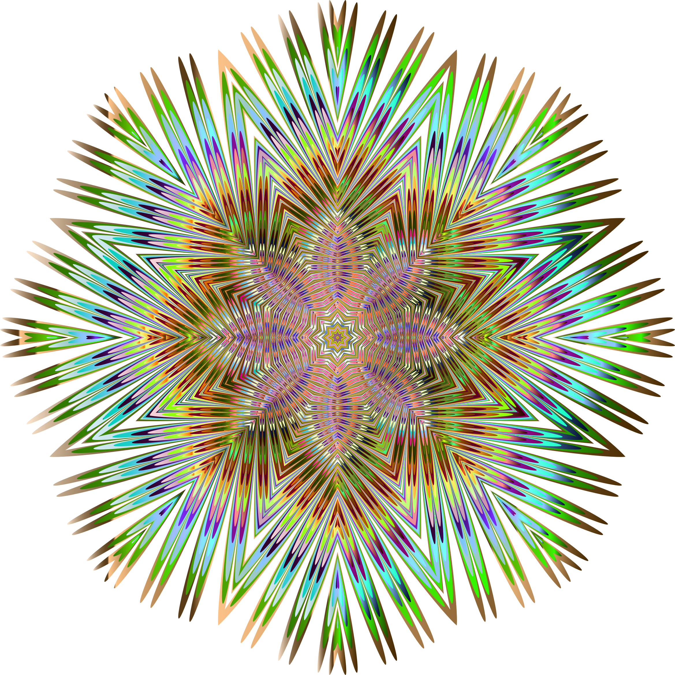 Chromatic Symmetric Mandala No Background by GDJ