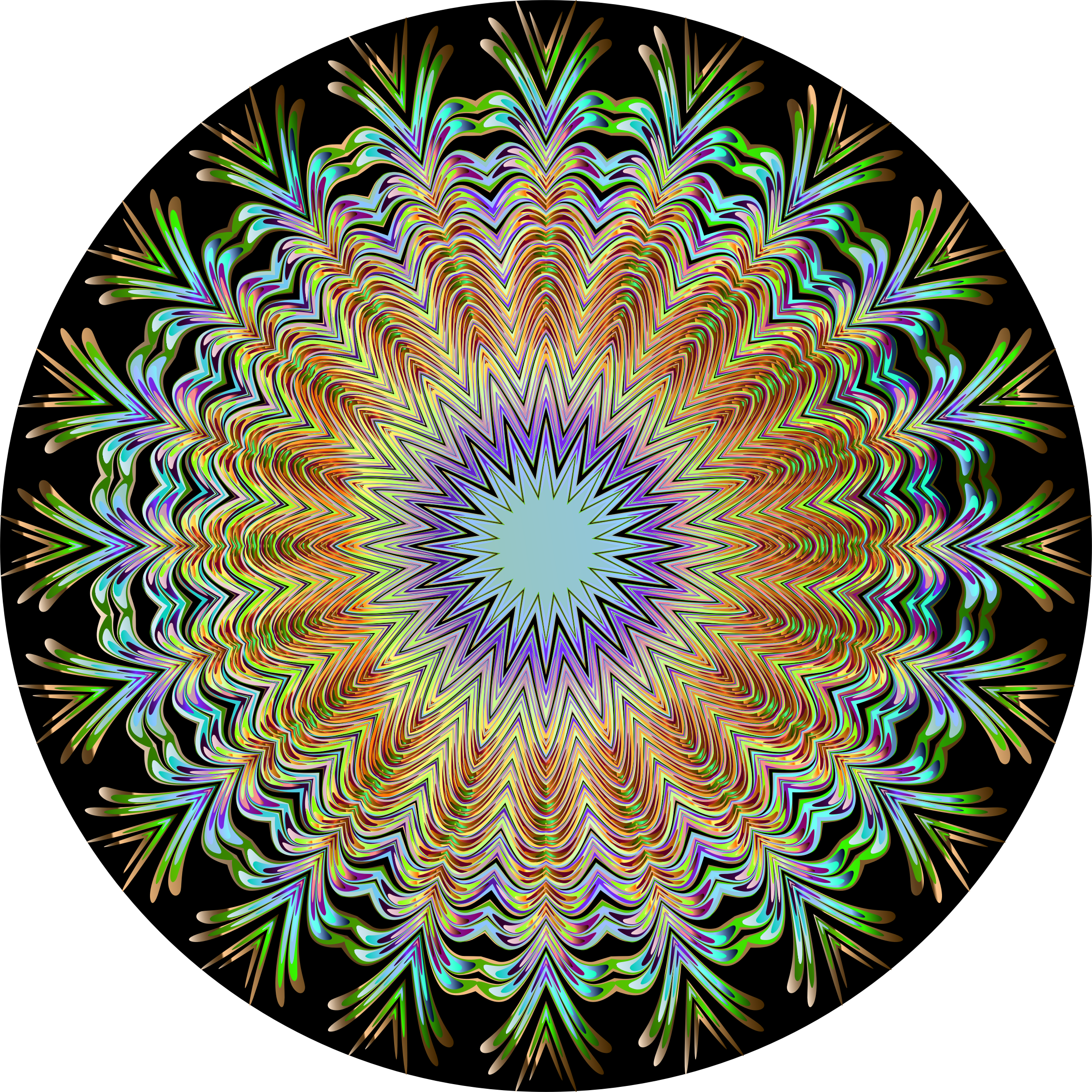 Chromatic Symmetric Mandala 3 by GDJ