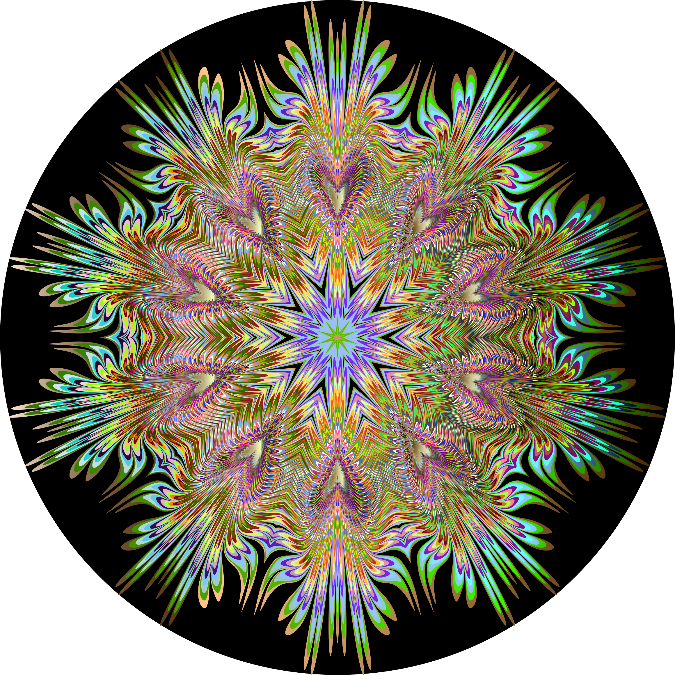 Chromatic Symmetric Mandala 4 by GDJ