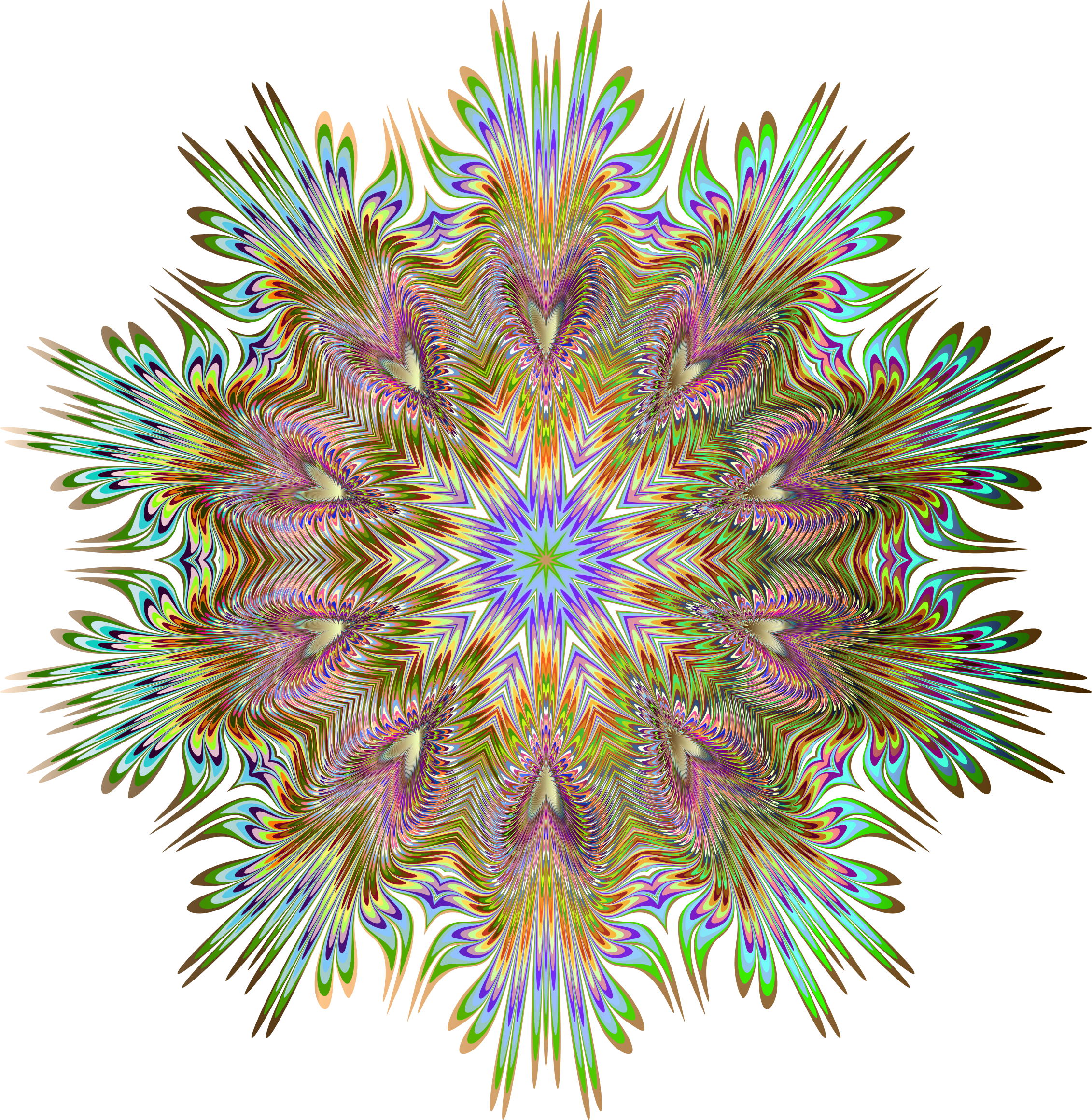 Chromatic Symmetric Mandala 4 No Background by GDJ