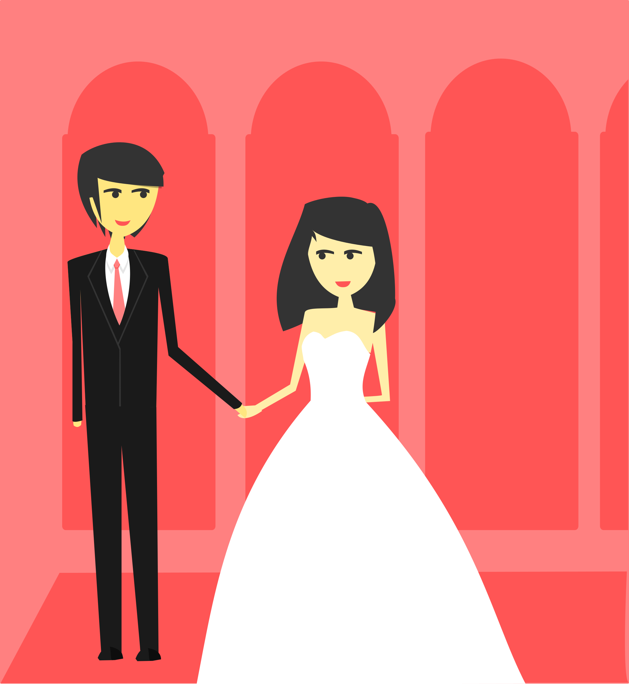 Simple Wedding illustration  by Vexagrafi