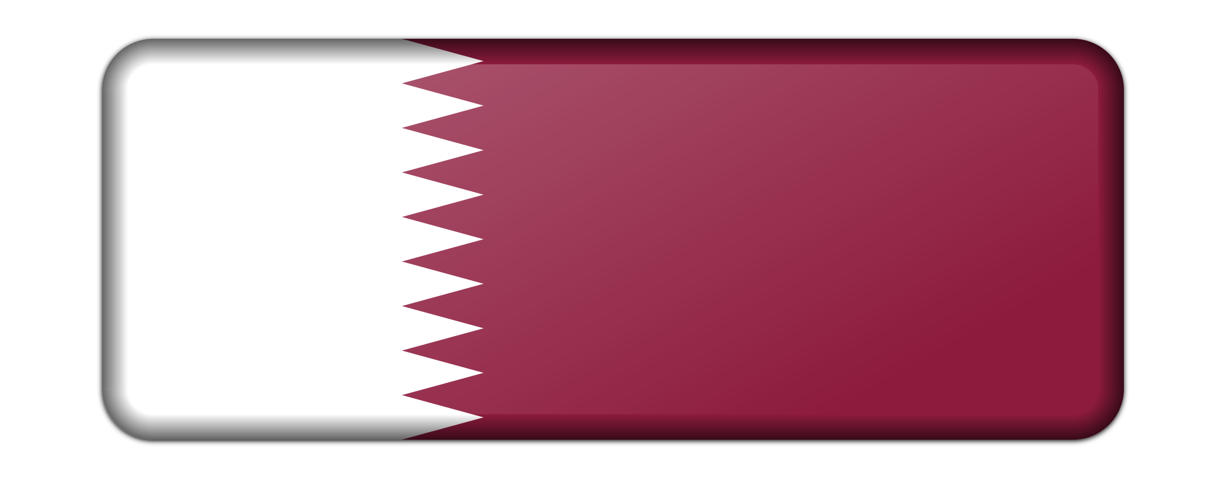Flag of Qatar (bevelled) by Firkin