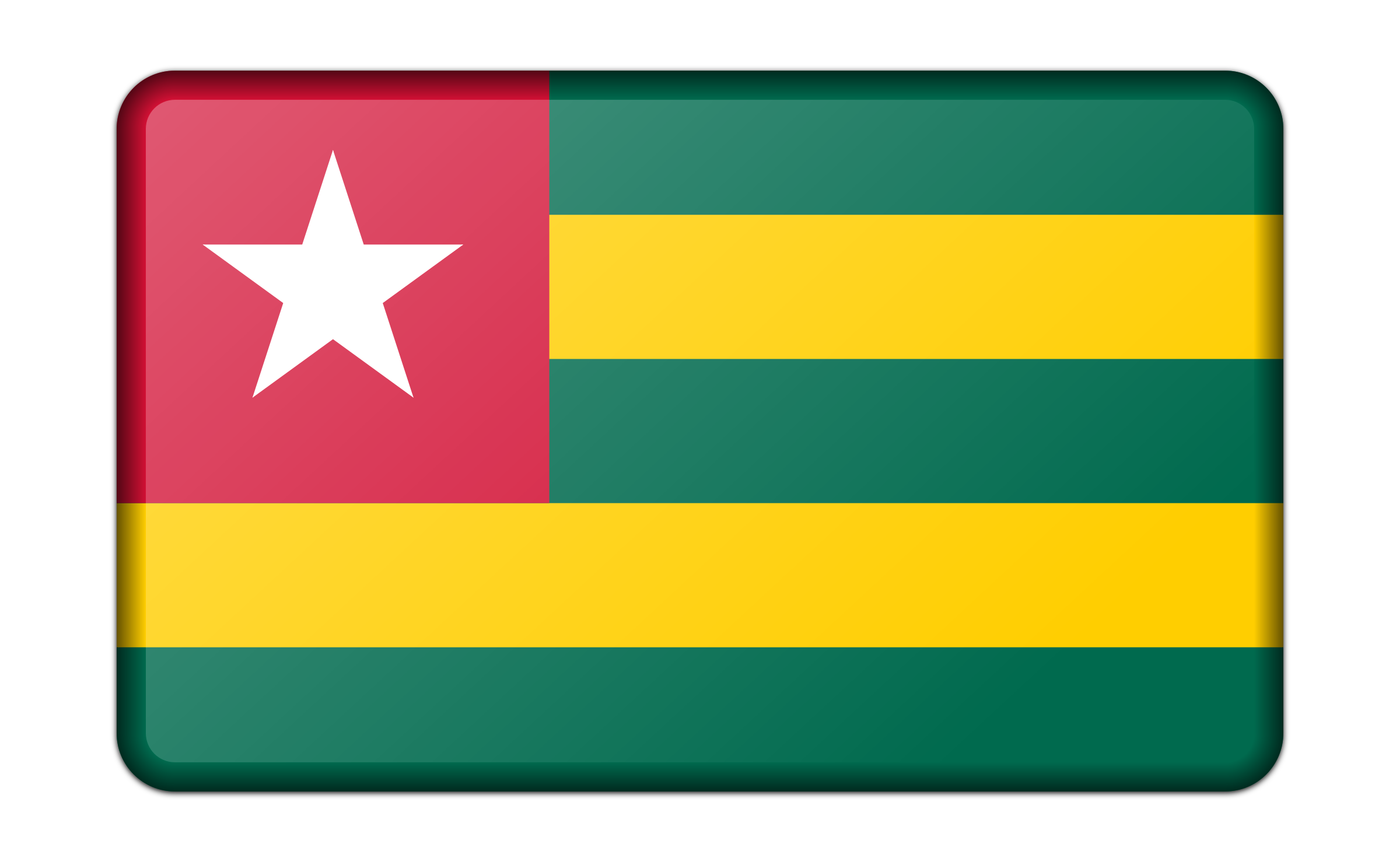 Flag of Togo (bevelled) by Firkin