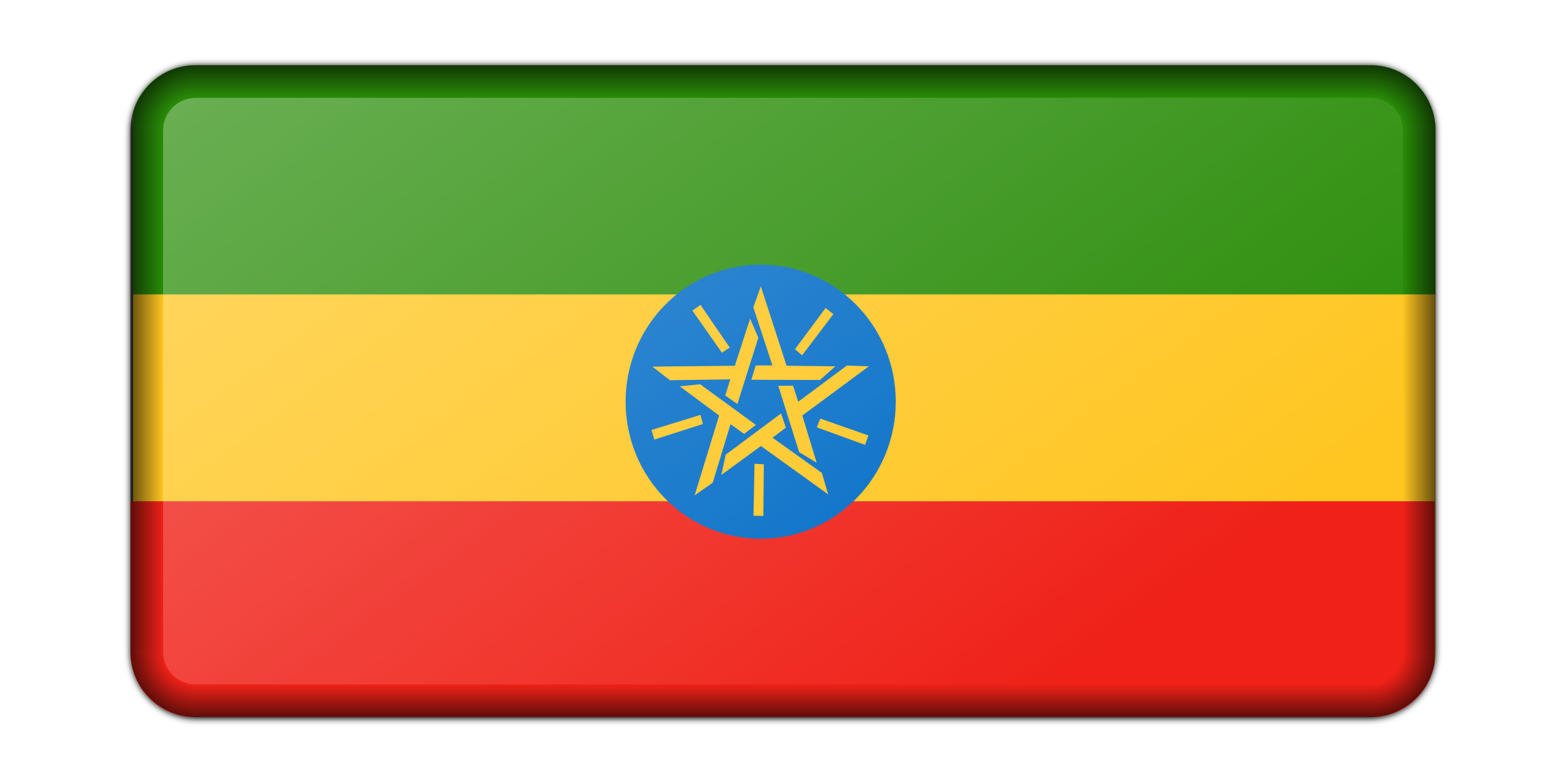 Flag of Ethiopia (bevelled) by Firkin
