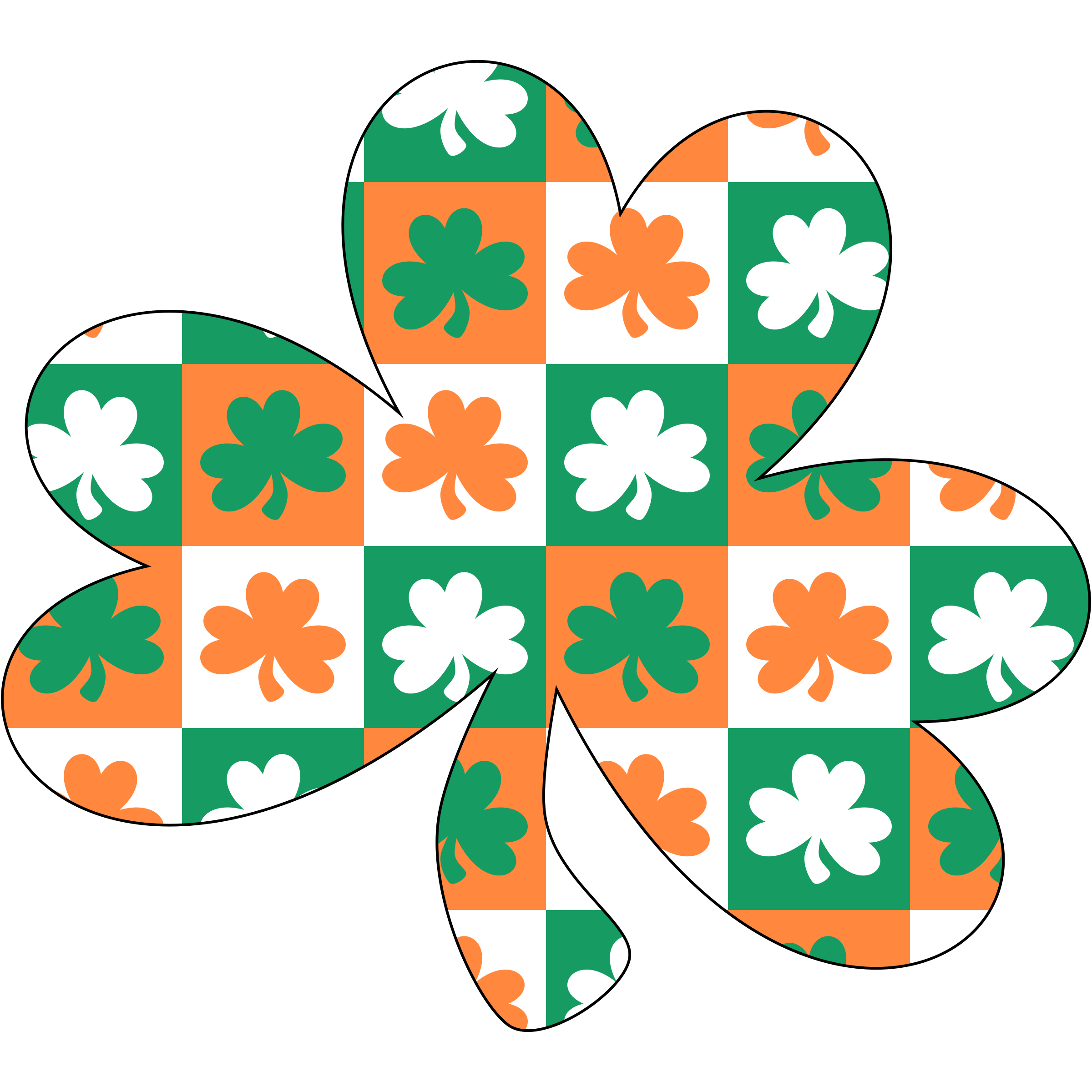 Shamrock with Ireland pattern by Firkin